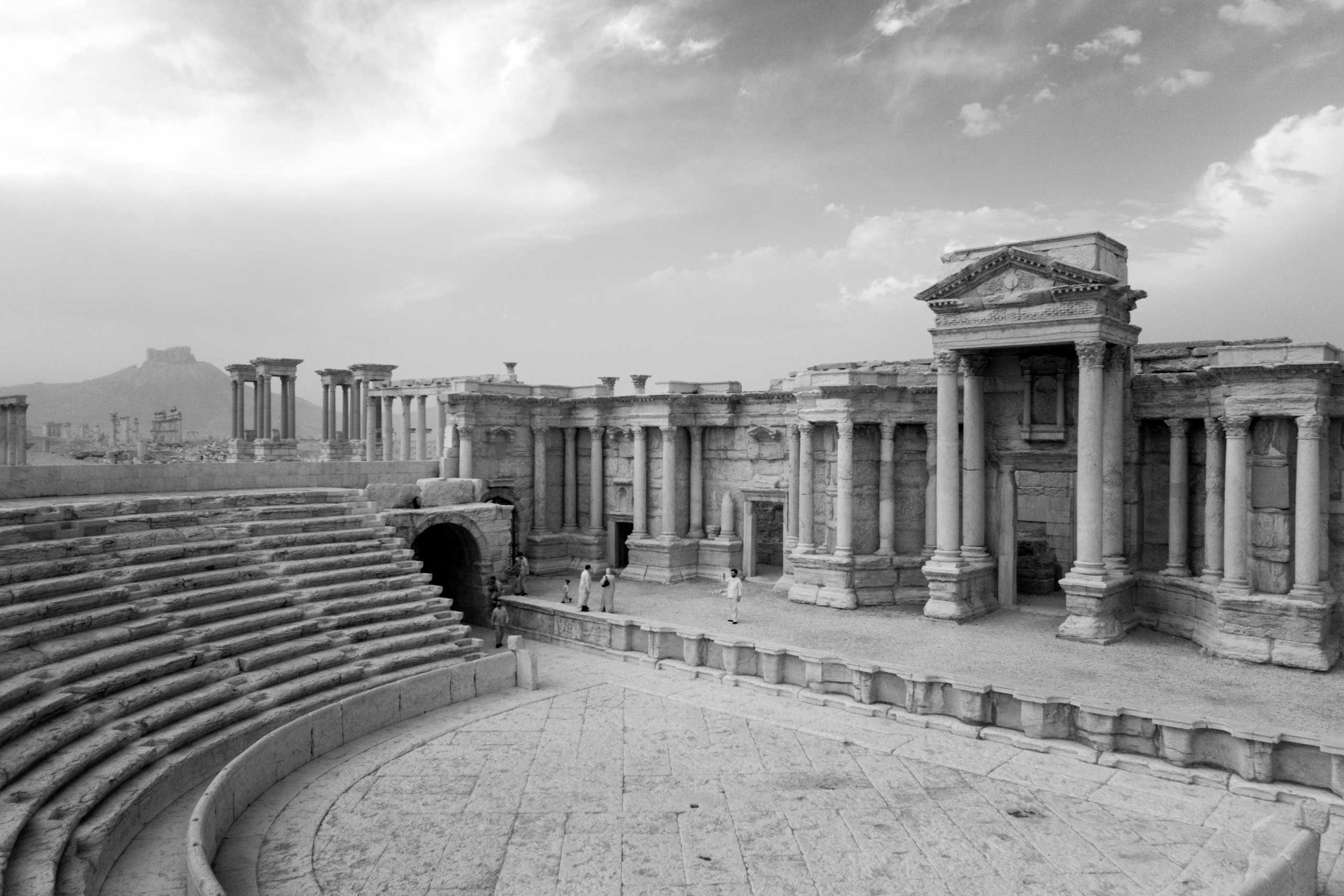 The grand Roman amphitheater in Palmyra.