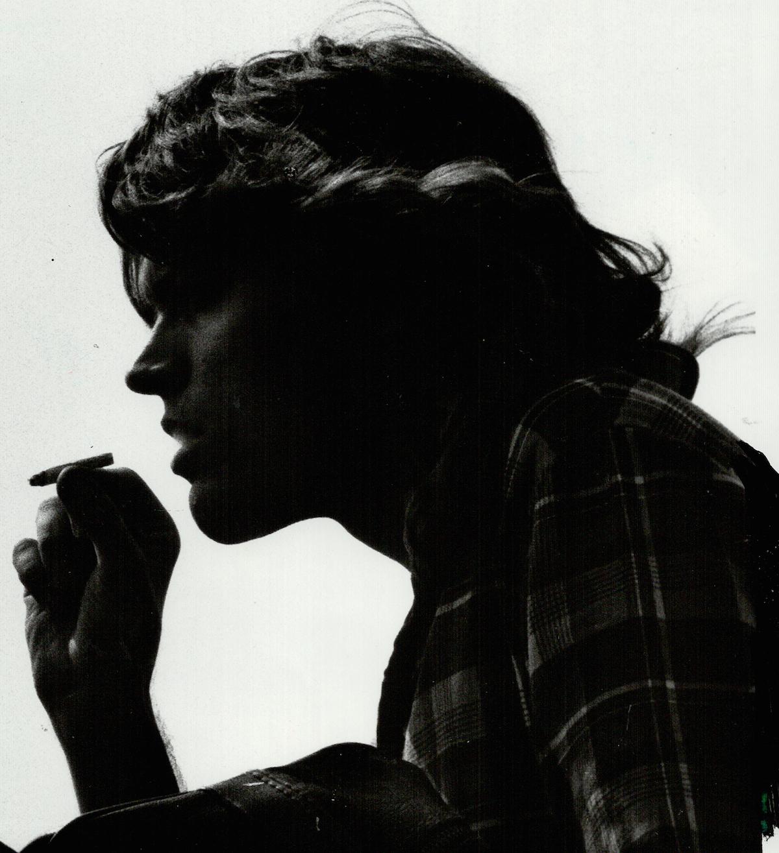 A person smoking marijuana in 1988