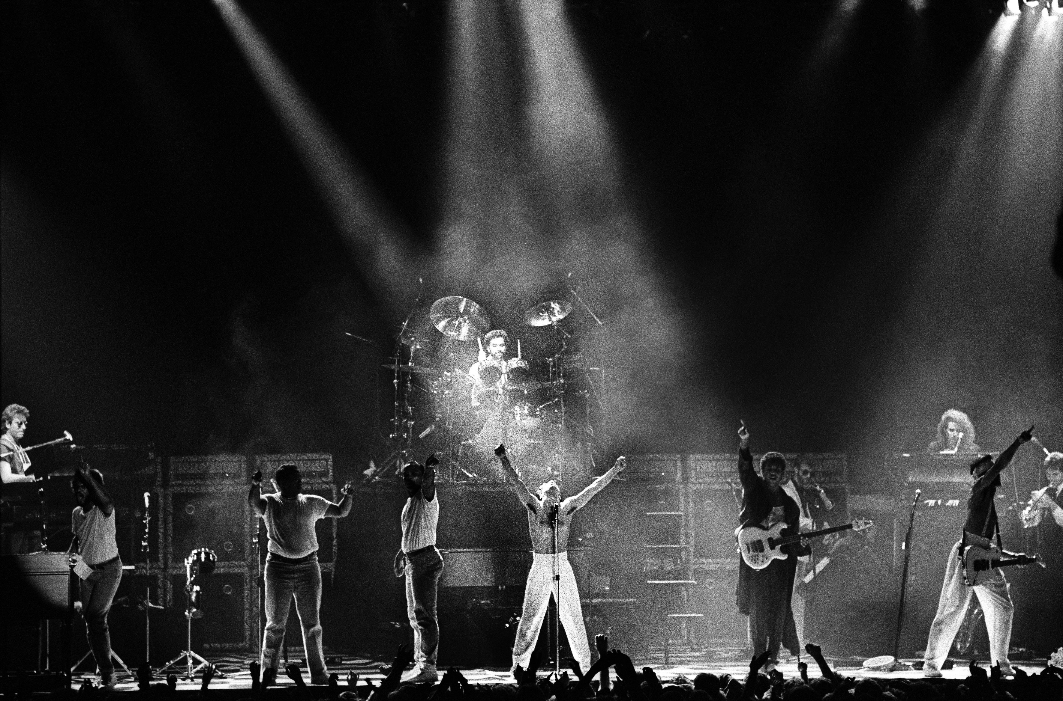 Prince and The Revolution perform on stage at Ahoy, Rotterdam, Netherlands, on Aug. 17, 1986.