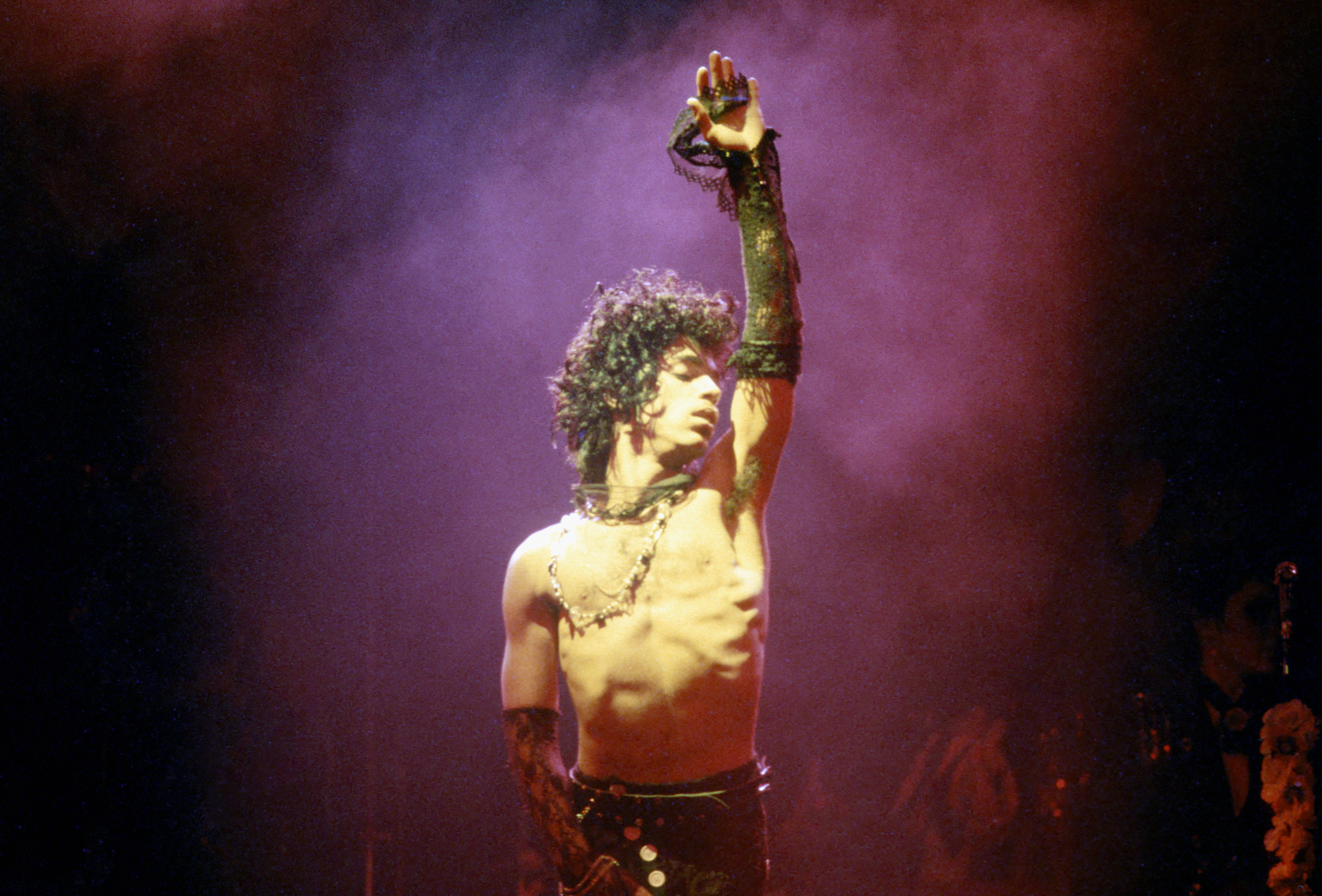 Prince performs live at the Fabulous Forum on  in Inglewood, Calif. on Feb, 19, 1985.