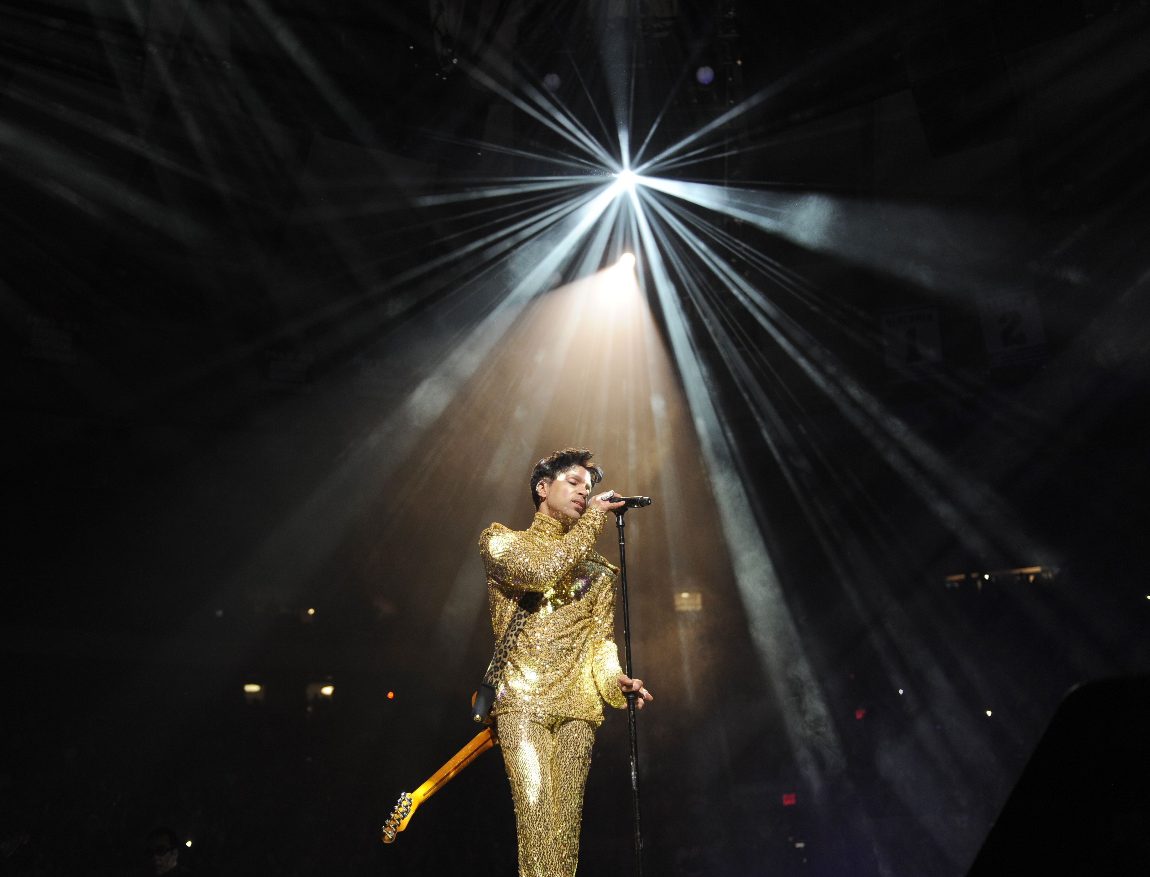 Prince performs during his  Welcome 2 America  tour at Madison Square Garden on Feb. 7, 2011 in New York.