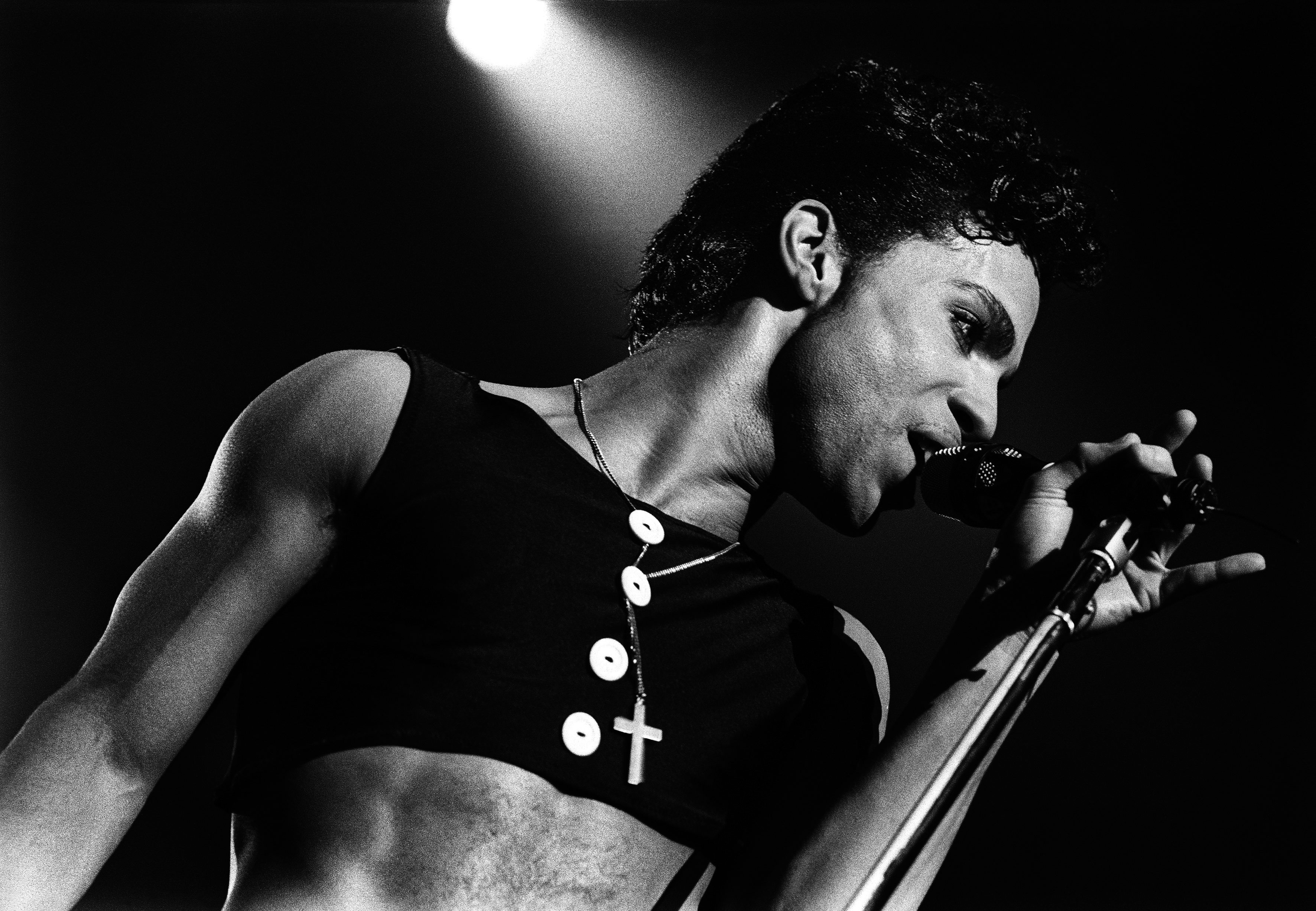 Prince and The Revolution perform on stage at Ahoy, Rotterdam, on Aug. 17,1986.