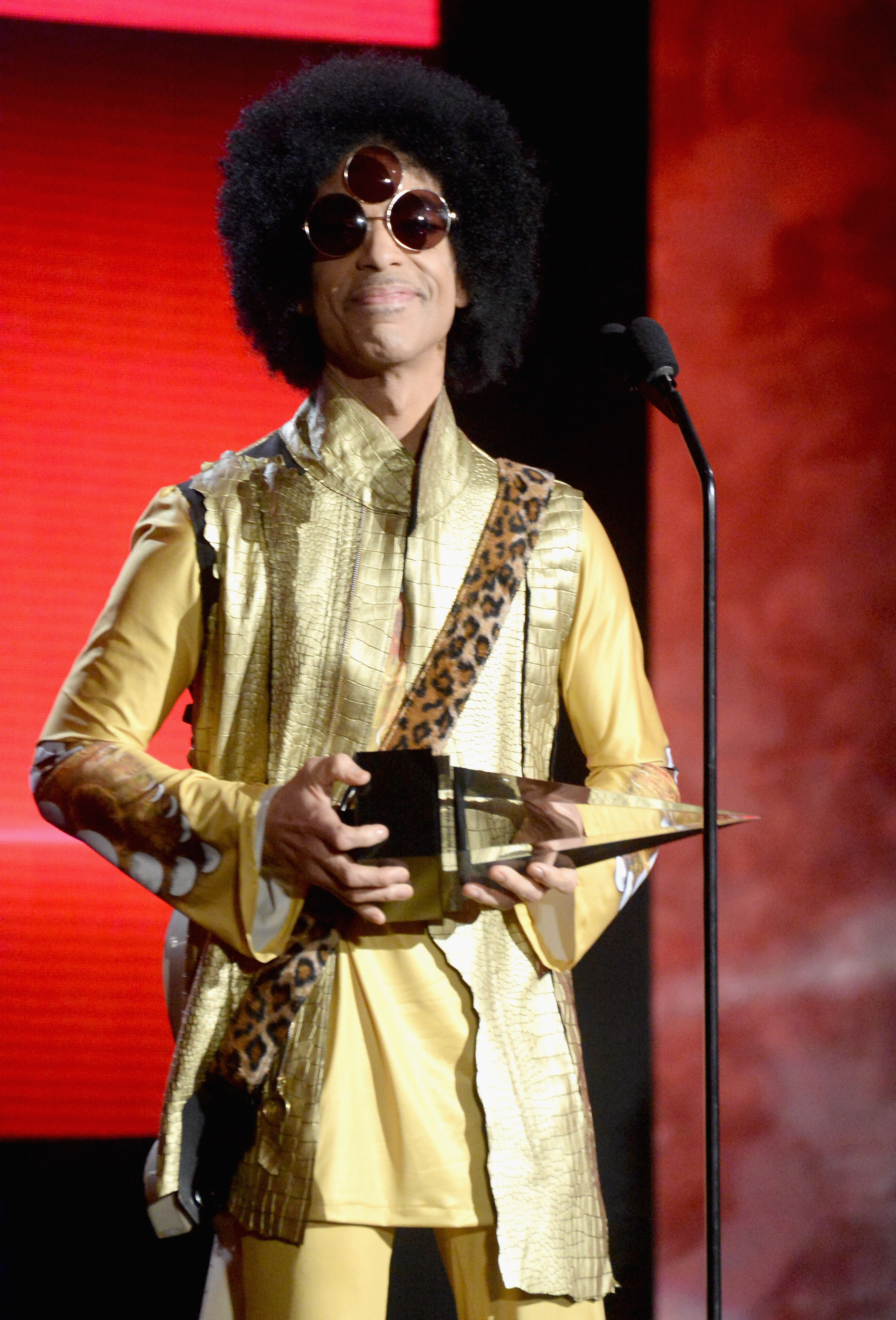 Prince during the 2015 American Music Awards on Nov. 22, 2015 in Los Angeles.