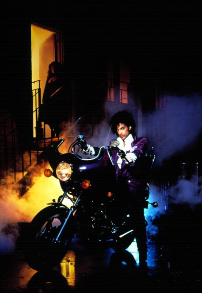 Promotional still for <i>Purple Rain</i>, 1984.