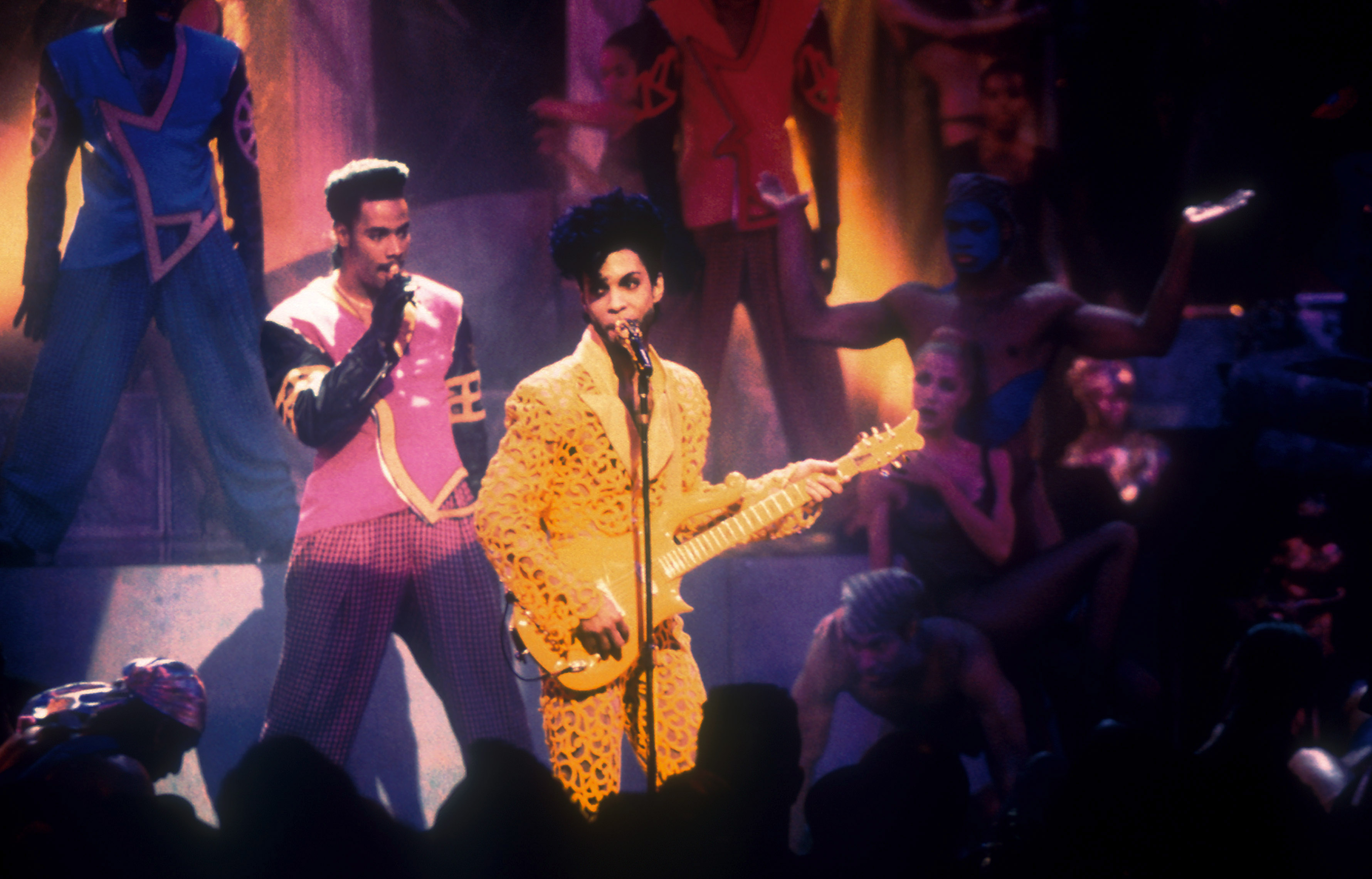 Prince performs at the 1991 MTV Video Music Awards on Sept. 5, 1991 in Los Angeles.