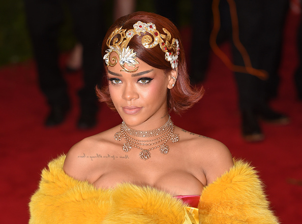 Rihanna attends the 'China: Through The Looking Glass' Costume Institute Benefit Gala at Metropolitan Museum of Art on May 4, 2015 in New York City.