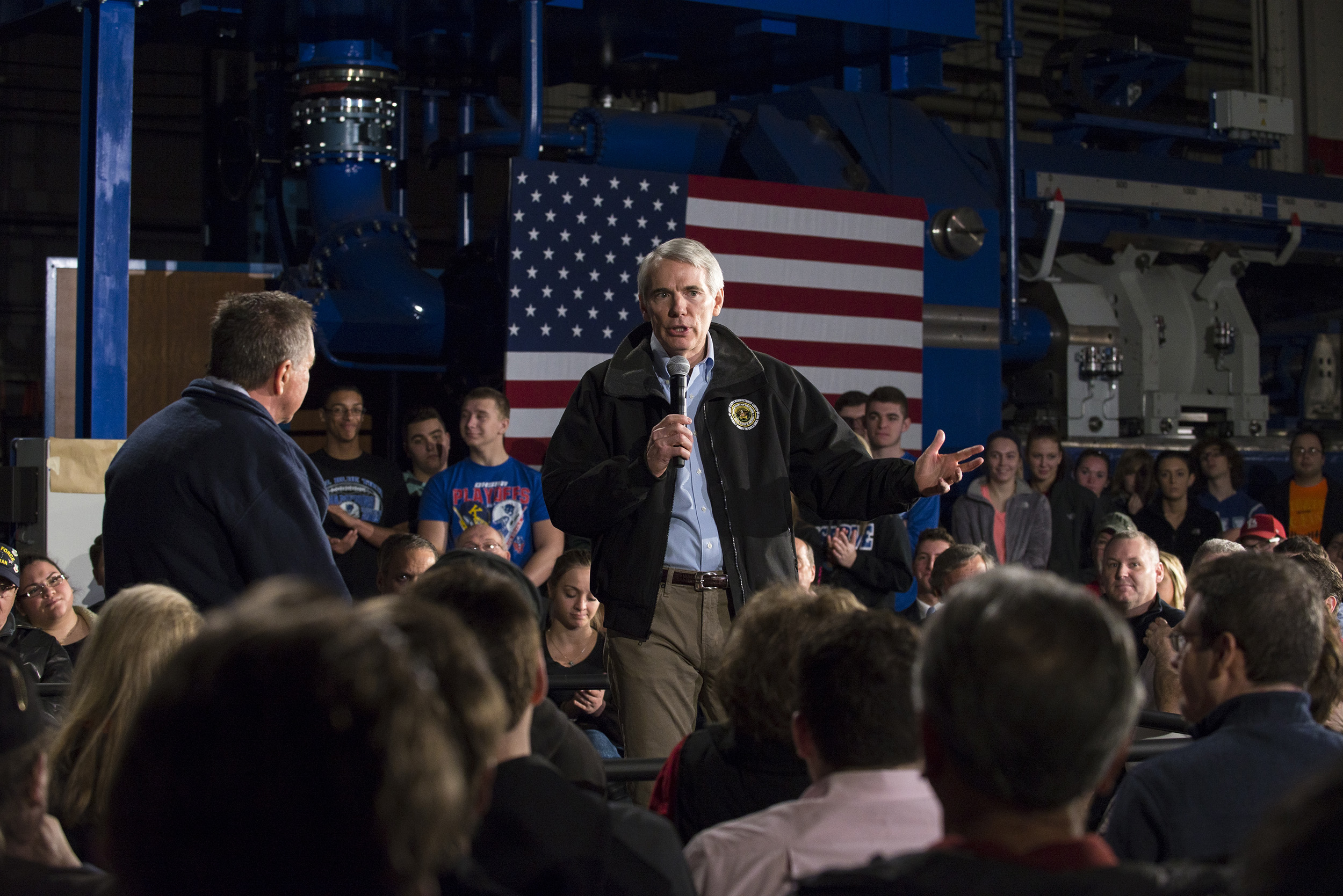 Ohio Senator Rob Portman speaks to supporters at a town hall meeting  in Youngstown, Ohio on March 14, 2016.