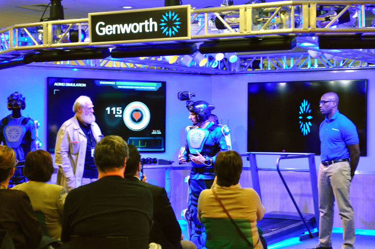 The Genworth R70i Aging Experience exhibit at the Liberty Science Museum in Jersey City, New Jersey