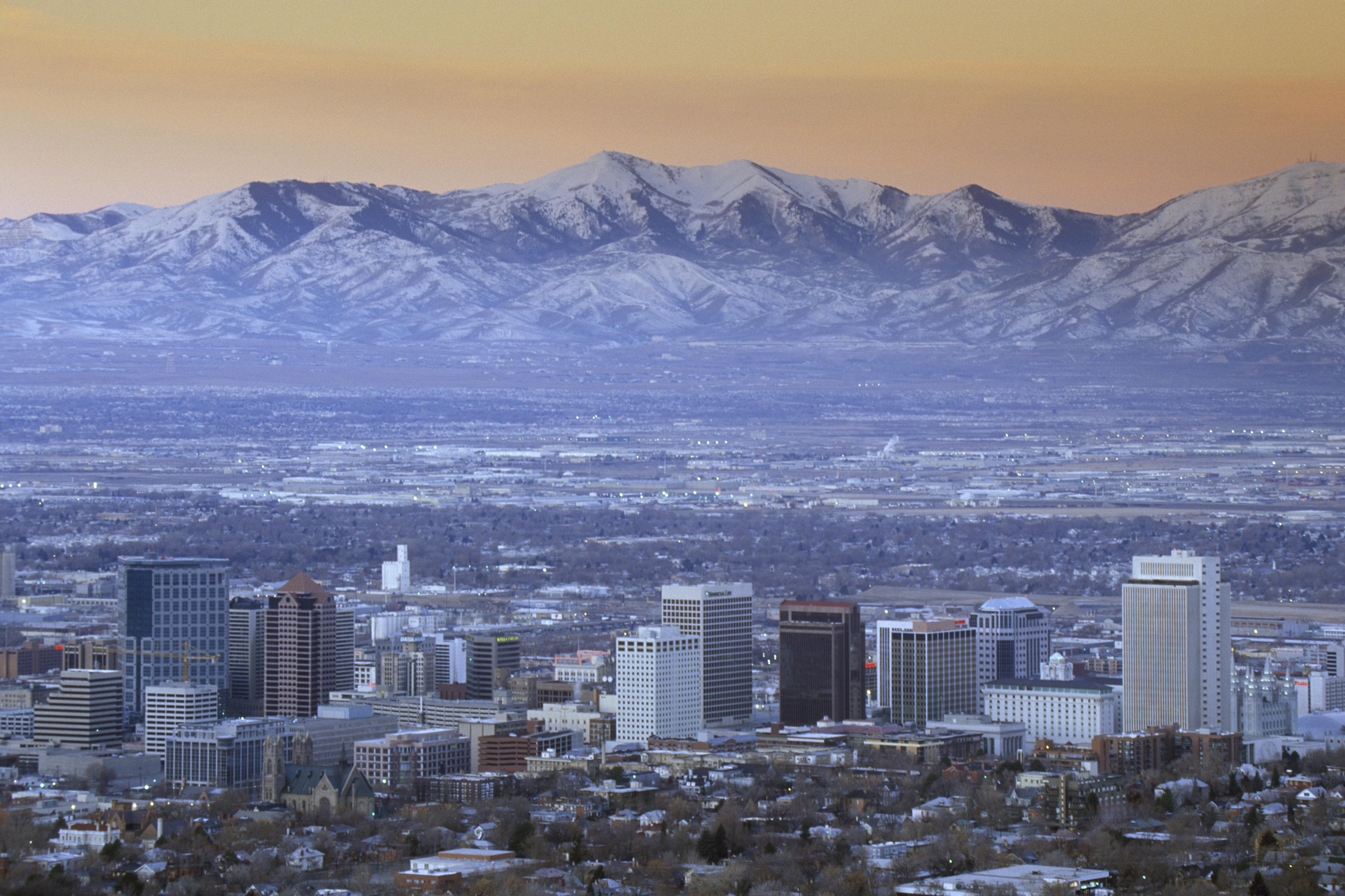 Skyline of Salt Lake City, UT