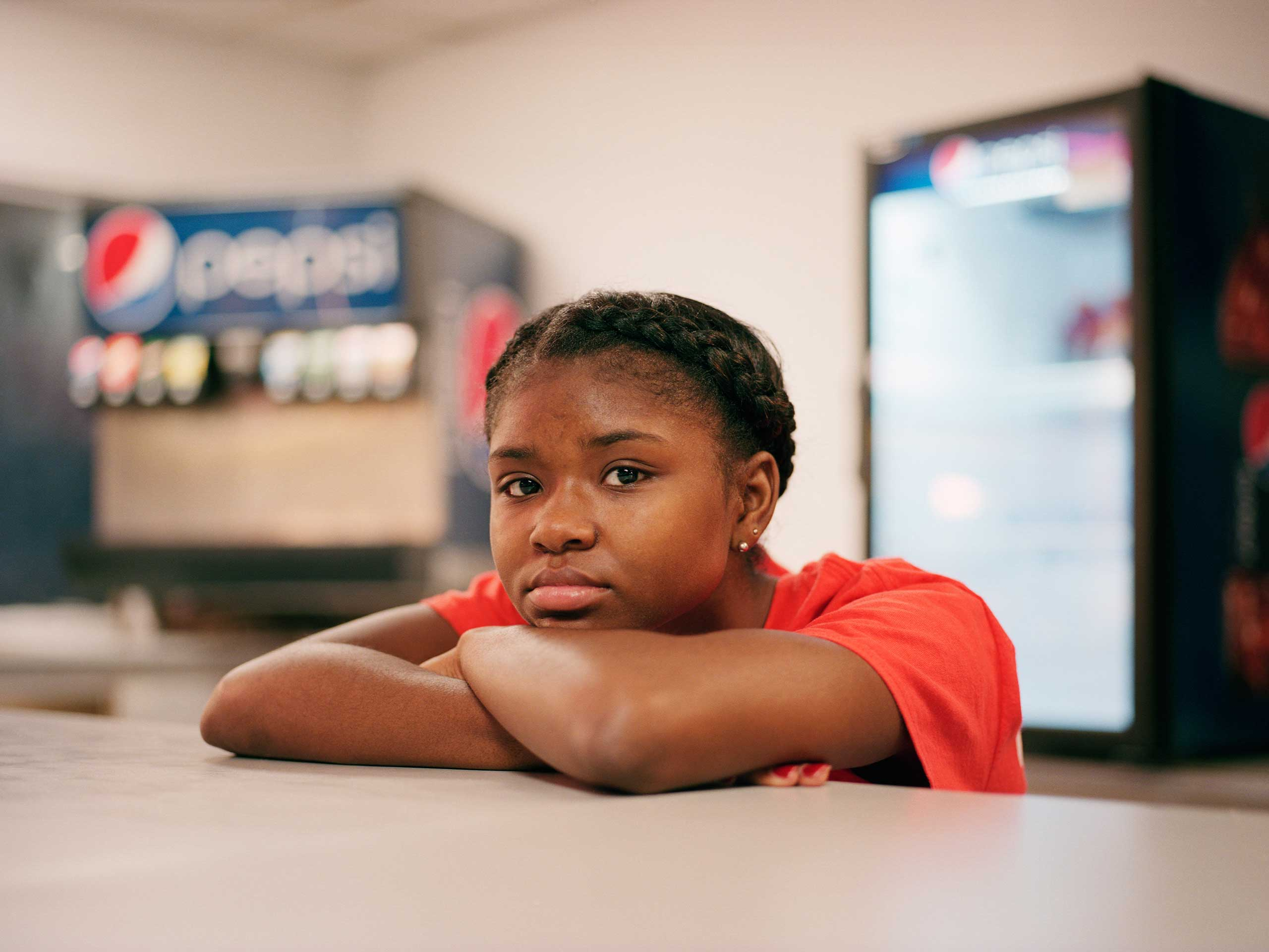 Tori Baker, age 16, has worked at Shake and Bake for three months. She got the job through Youth Works, a program that helps youth get jobs in the summer time.