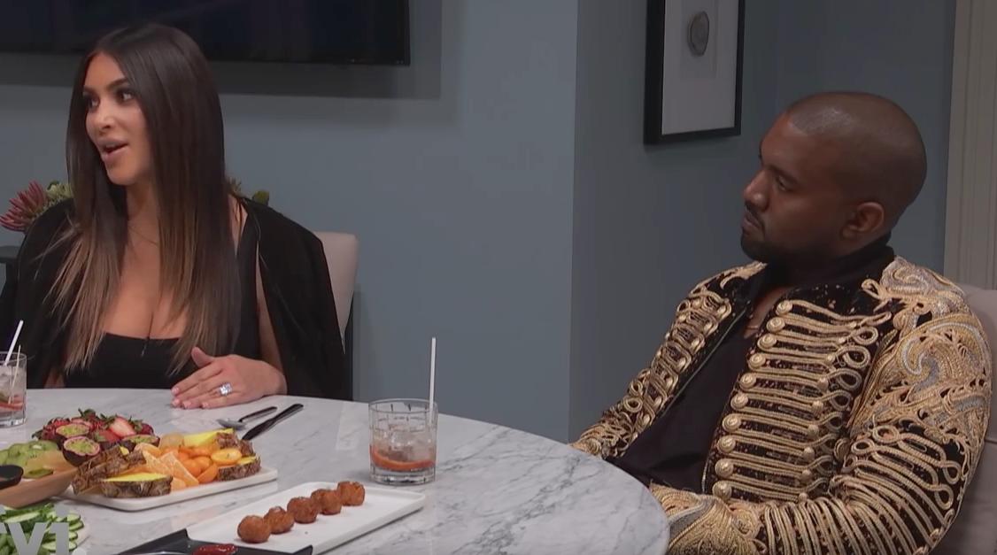 Kim Kardashian and Kanye West on 'Kocktails With Khloe'