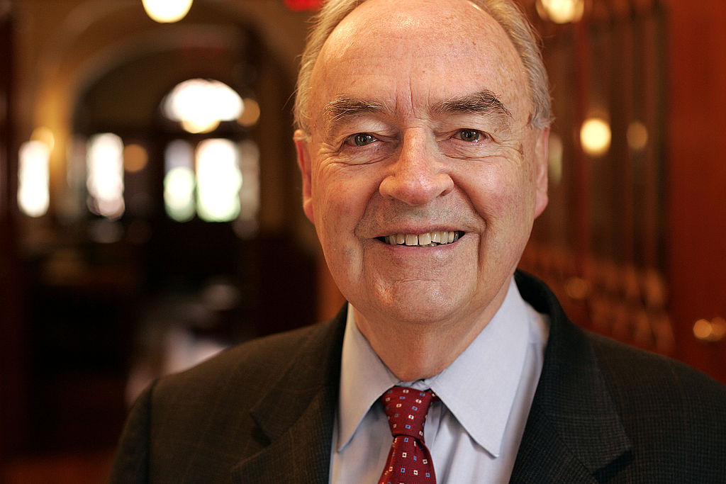 Former Pennsylvania Senator Harris Wofford photographed in his Washington office on April 13, 2005.