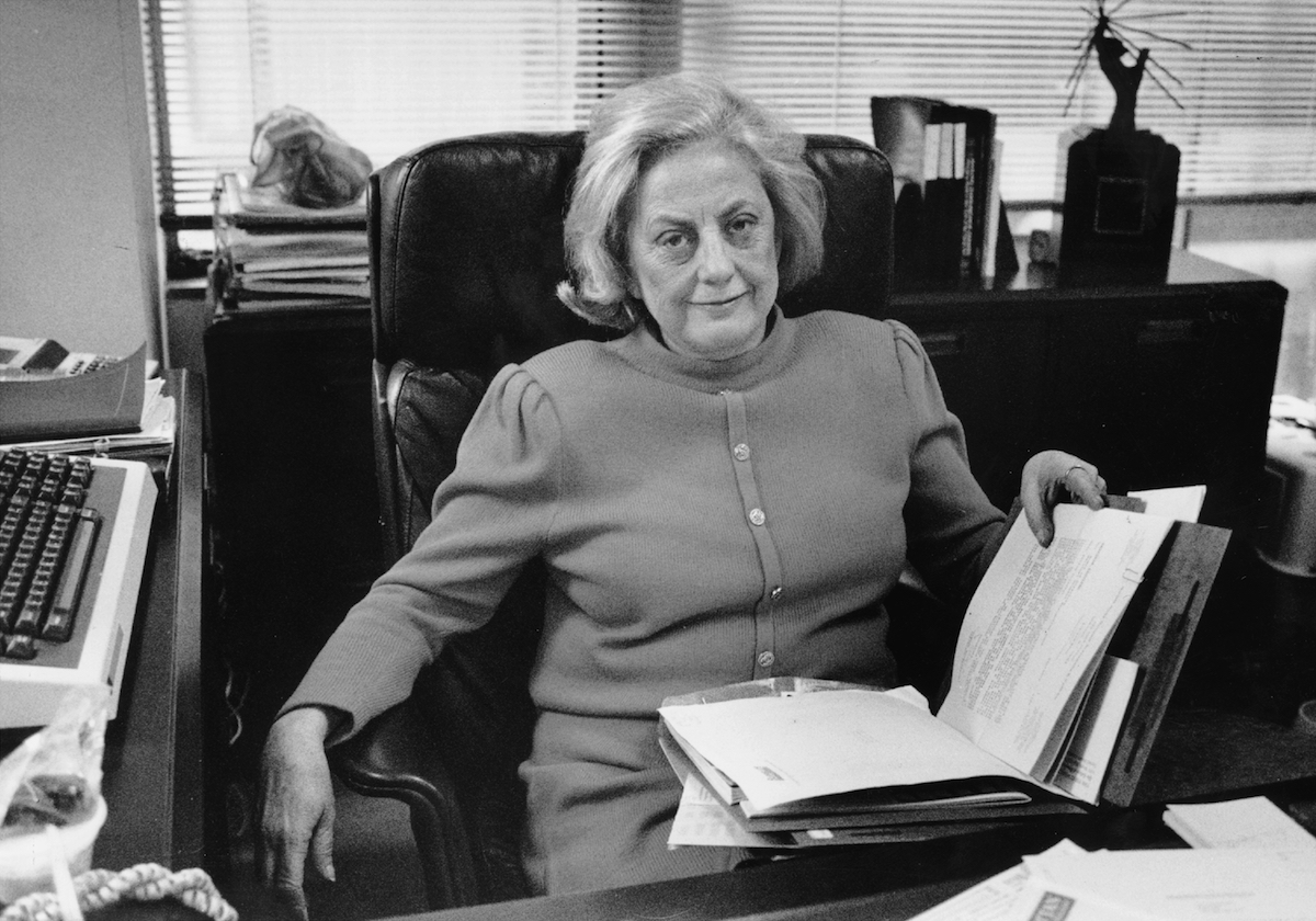 Muriel  Mickie  Siebert in 1990