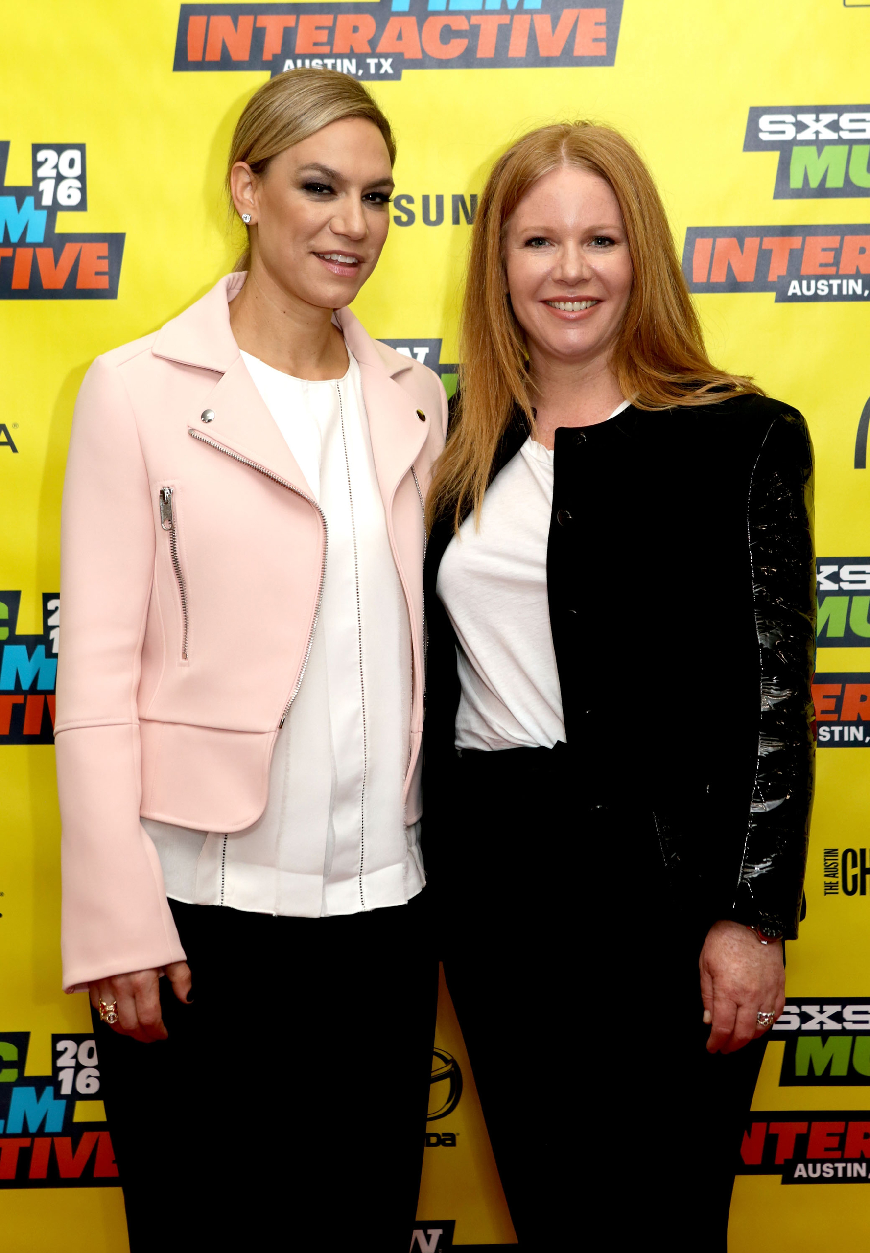 Julie Rice (left) and Elizabeth Cutler, Co-Founders and Chief Creative Officers of SoulCycle attend 'Creating a Movement: The Story of Soul Cycle' during the 2016 SXSW Music, Film + Interactive Festival at Austin Convention Center in Austin on Mar. 15, 2016.