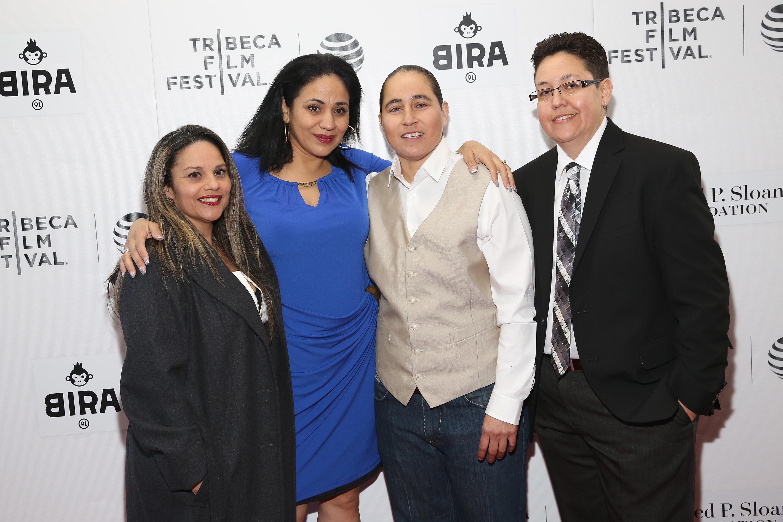 Film subjects Elizabeth Ramirez, Cassandra Rivera, Anna Vasquez and Kristie Mayhugh attend the 'Southwest of Salem: The Story of the San Antonio Four' premiere on April 15, 2016 in New York City.