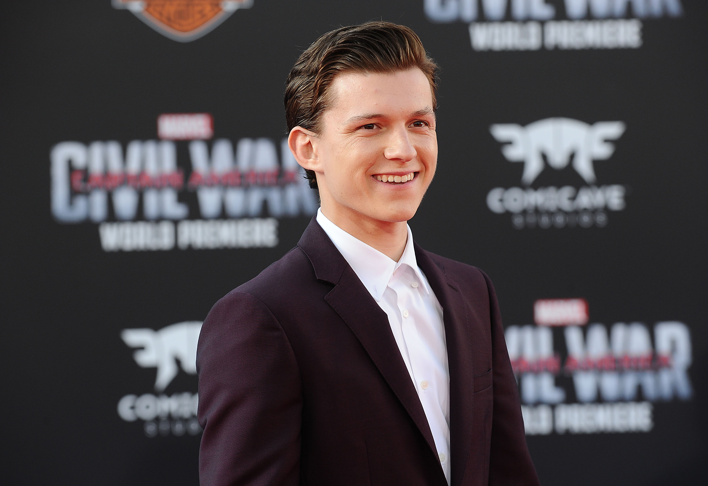 Actor Tom Holland attends the premiere of  Captain America: Civil War  at Dolby Theatre on April 12, 2016 in Hollywood, California.