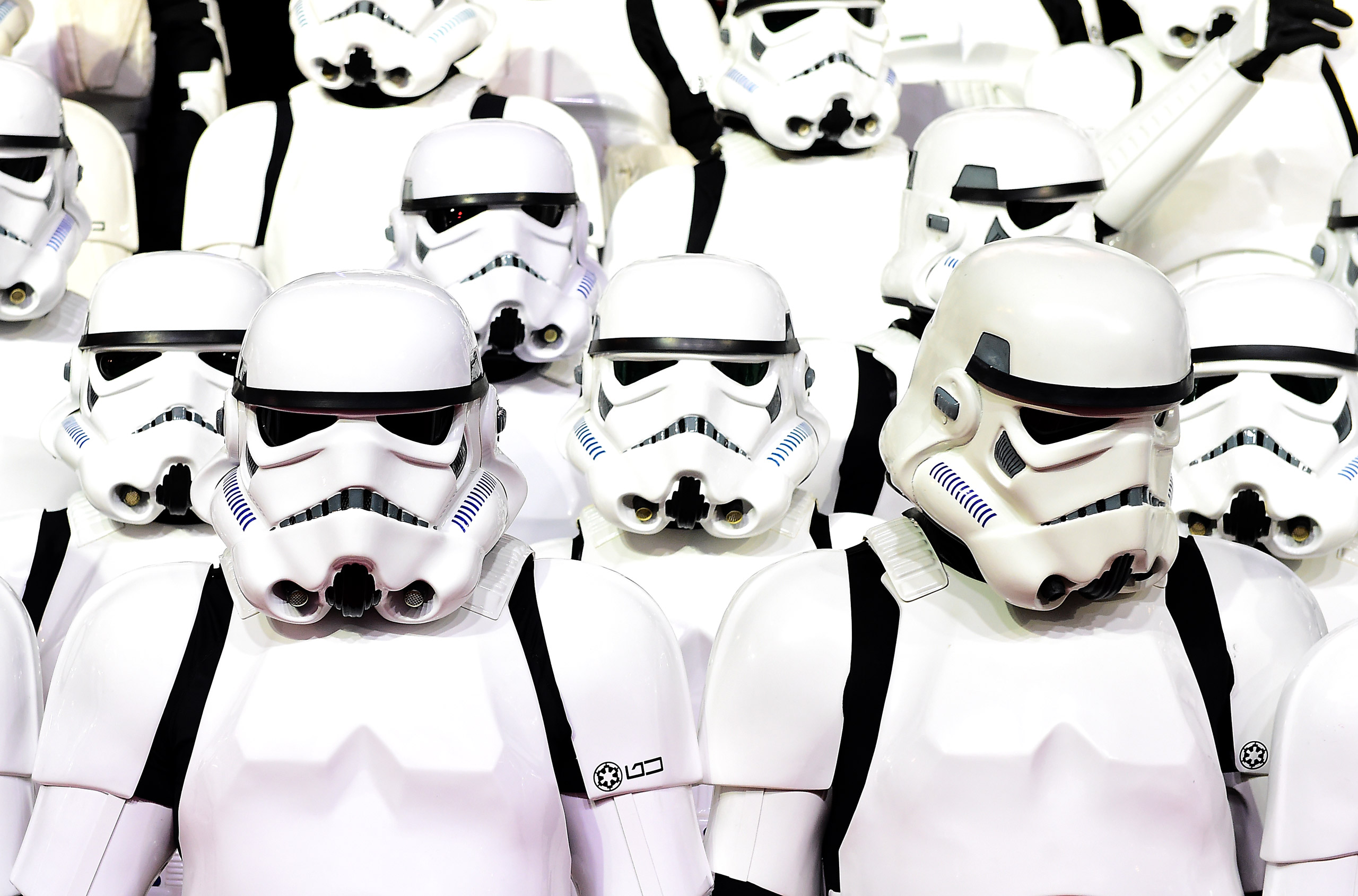 Storm Troopers attending the Star Wars: The Force Awakens European Premiere held in Leicester Square, London on Dec. 16, 2015.