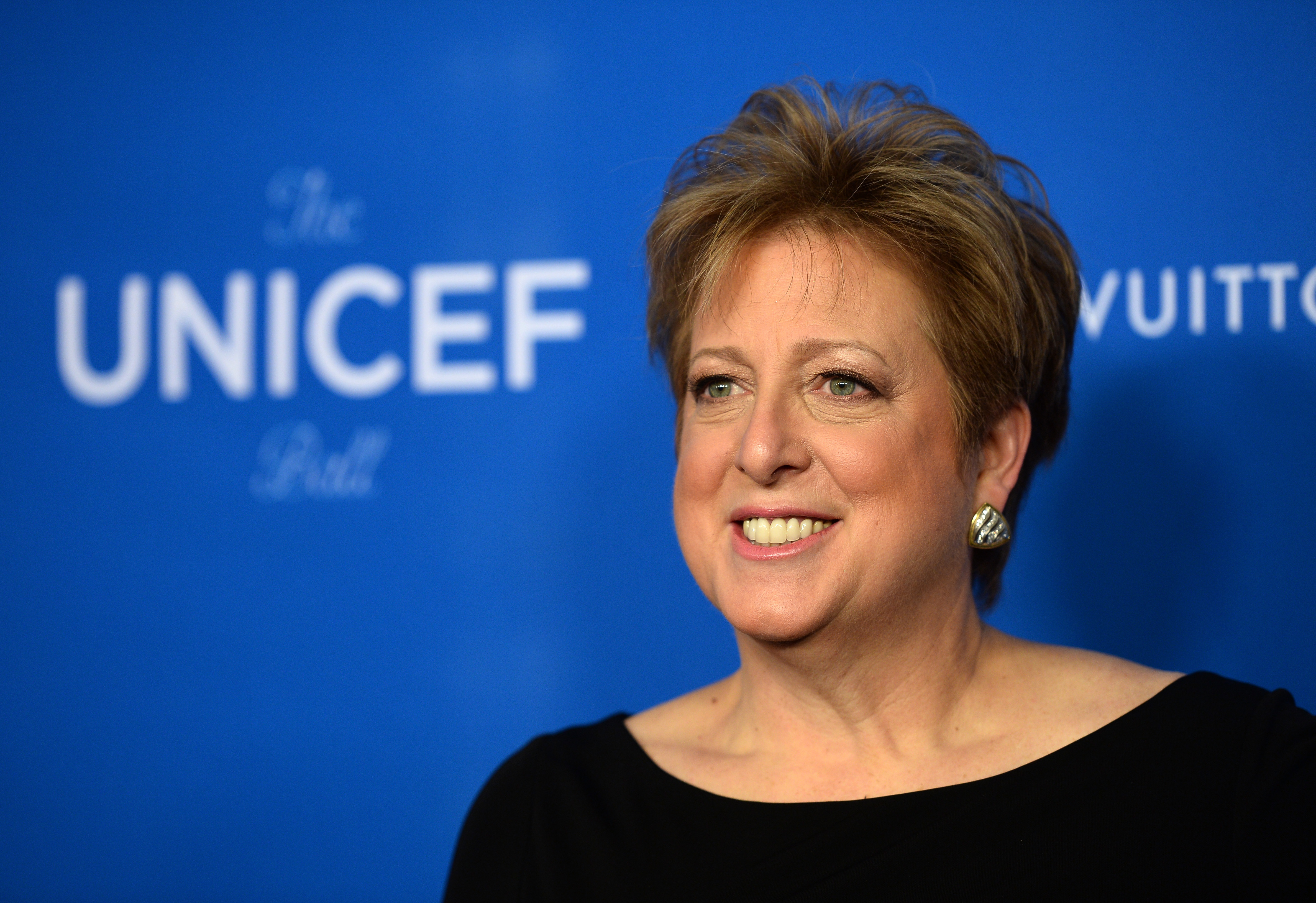 President and CEO U.S. Fund for UNICEF Caryl M. Stern arrives at the 6th Biennial UNICEF Ball at the Beverly Wilshire Four Seasons Hotel on in Beverly Hills, Calif., on Jan. 12, 2016.