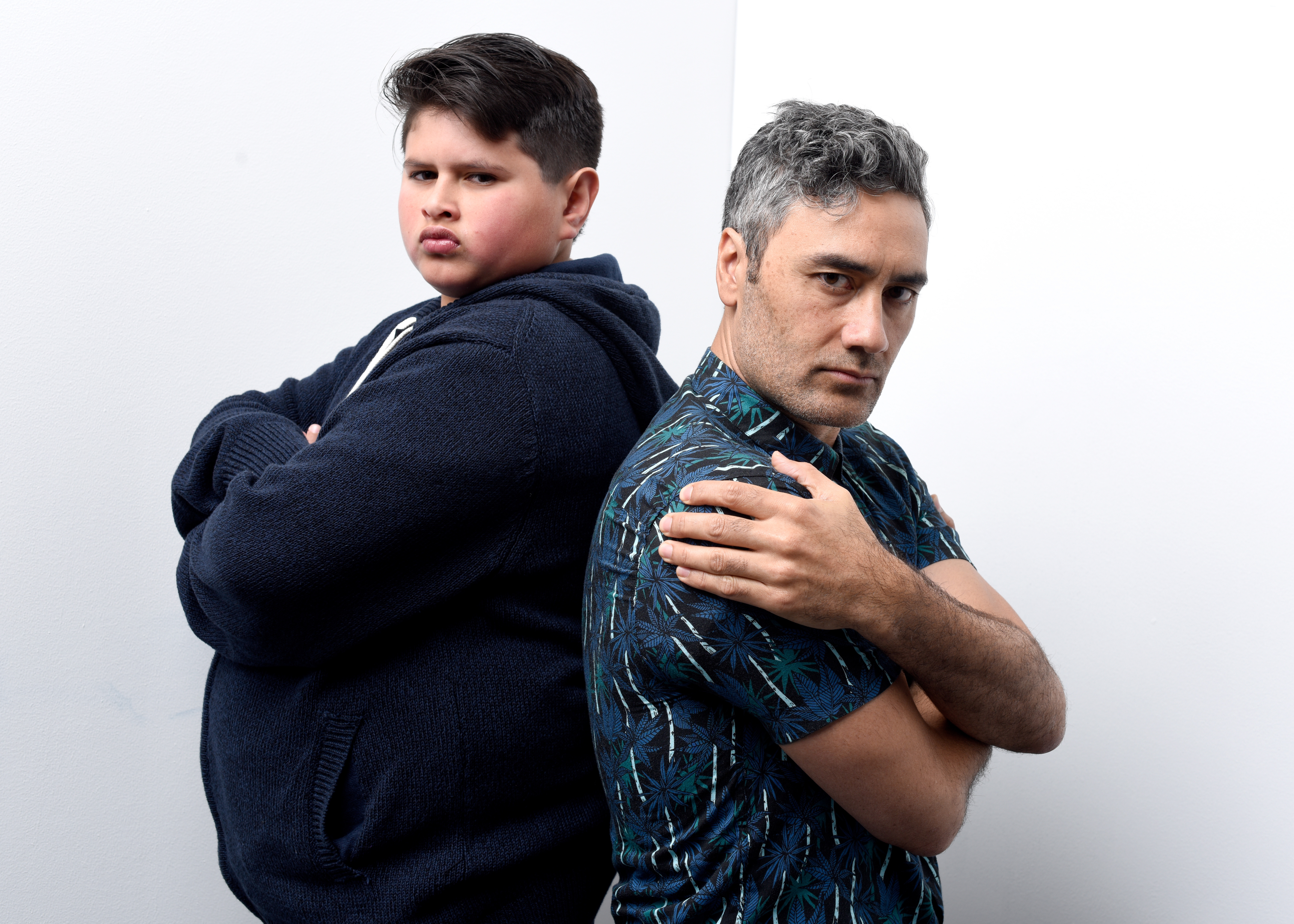 Julian Dennison and writer/director Taika Waititi from the film 'Hunt for the Wilderpeople' pose for a portrait on January 22, 2016 in Park City, Utah.