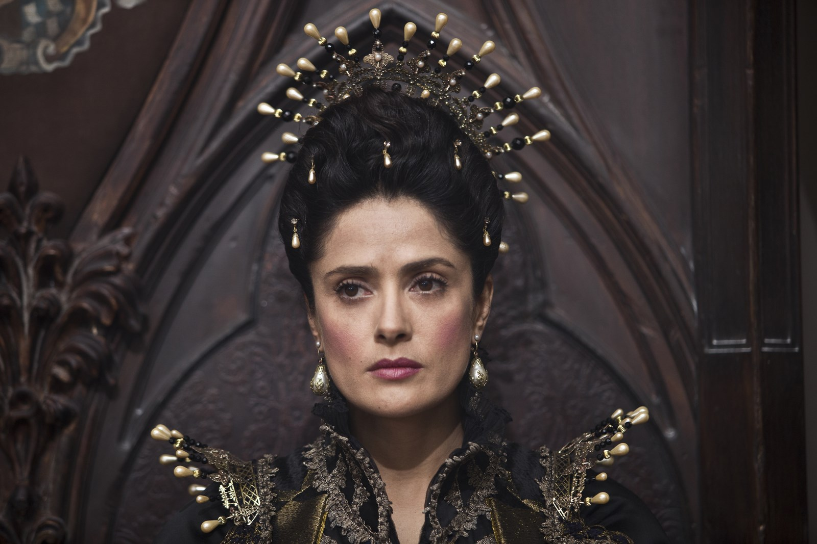 Salma Hayek as Queen of Longtrellis in Tale of Tales.