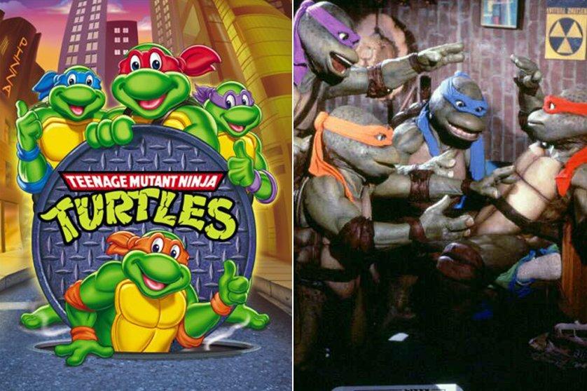 Teenage Mutant Ninja Turtles, 1987-1996 and Teenage Mutant Ninja Turtles, 1990.