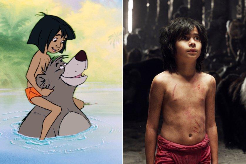 The Jungle Book, 1967 and The Jungle Book, 2016.