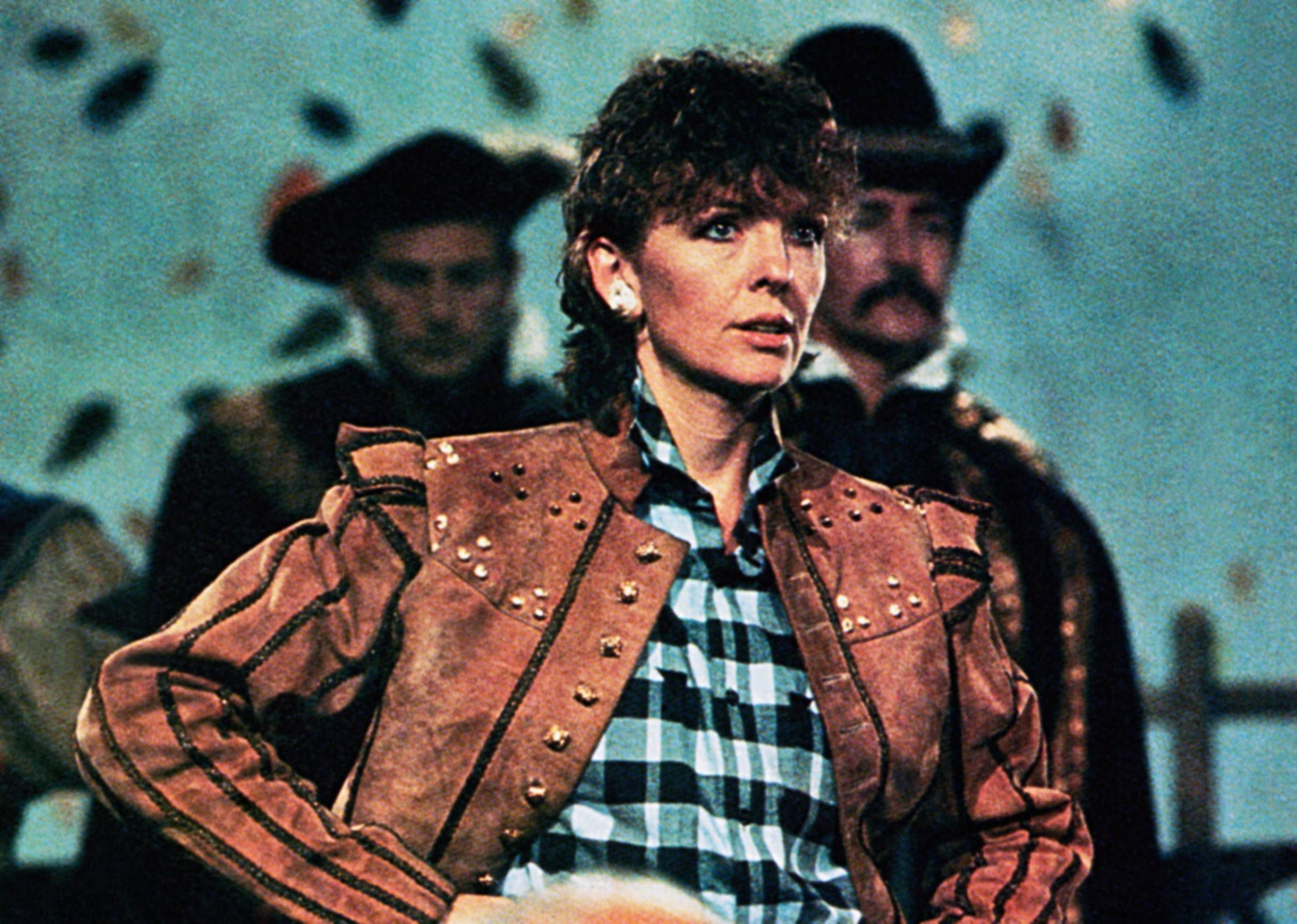 Diane Keaton as Charlie in The Little Drummer Girl, 1984