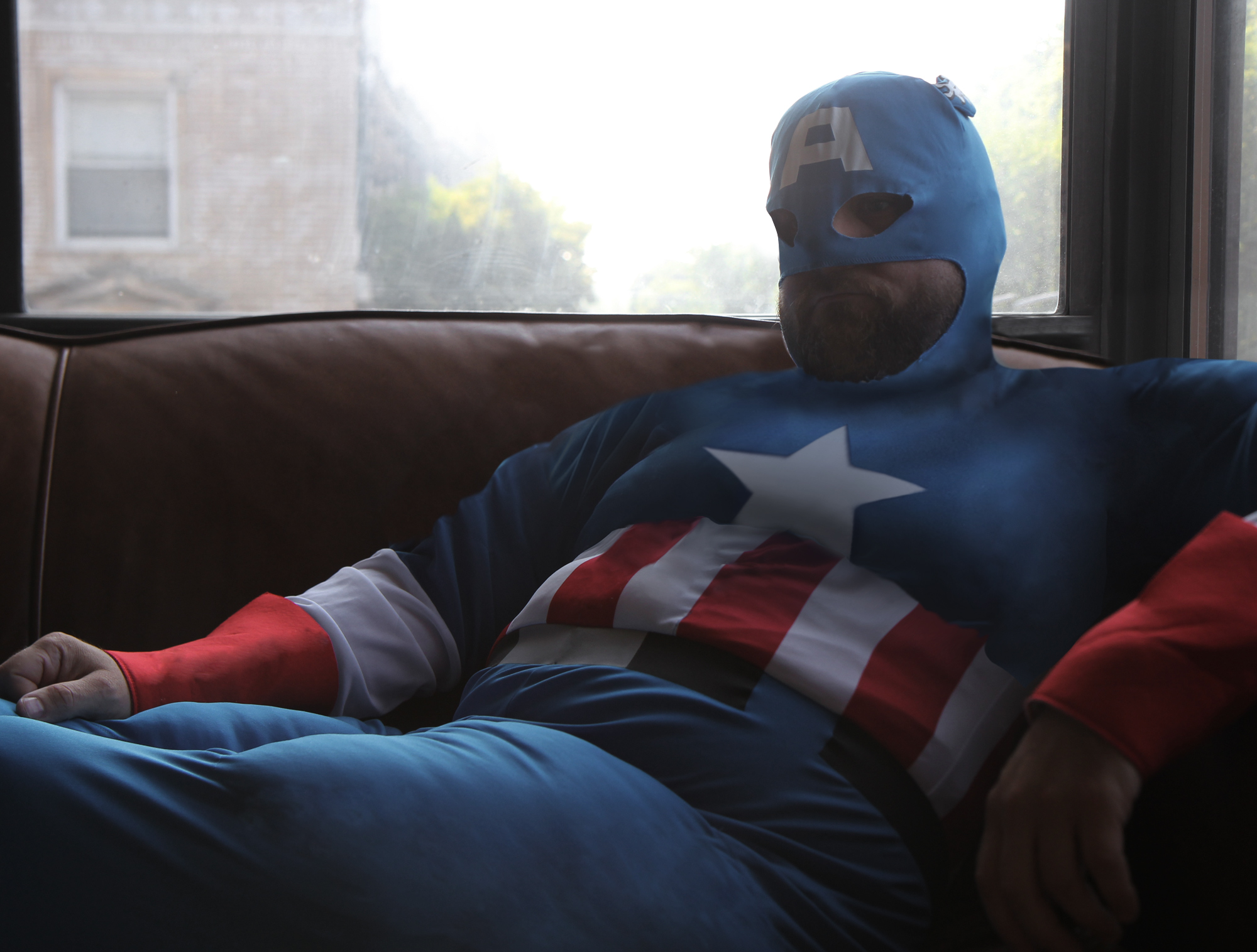 'Captain Actual America' Overweight, Hopelessly In Debt                               July 16, 2012