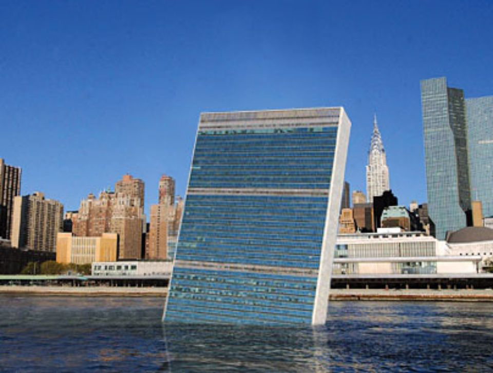 UN Quietly Pushed Into East River                                 July 27, 2005