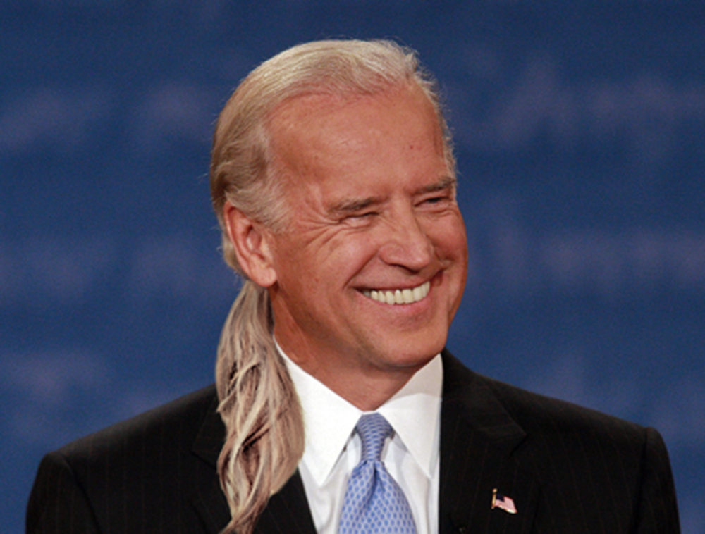 Joe Biden Shows Up To Inauguration With Ponytail                                January 20, 2009