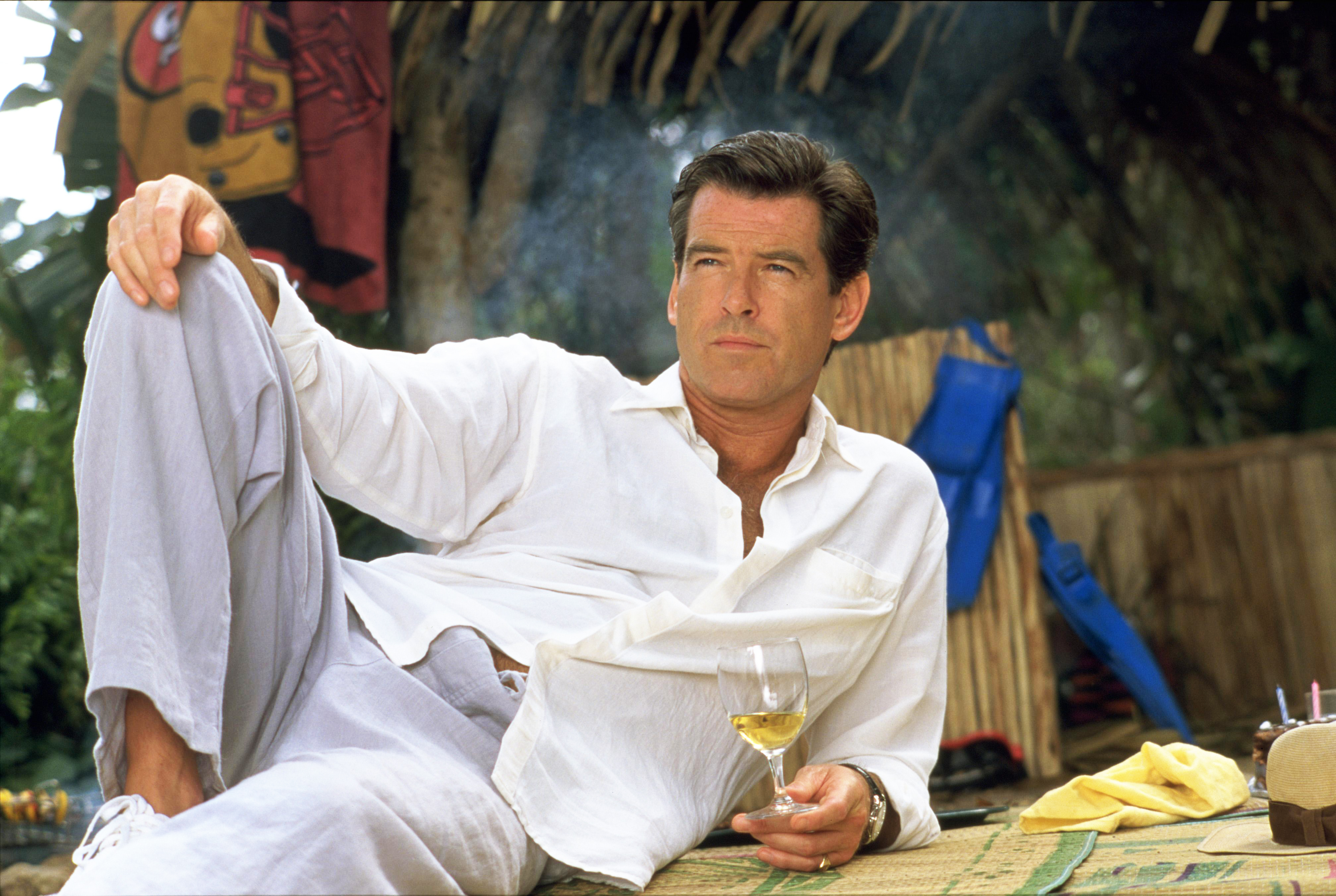 Pierce Brosnan as Andrew  Andy  Osnard in The Tailor of Panama, 2001