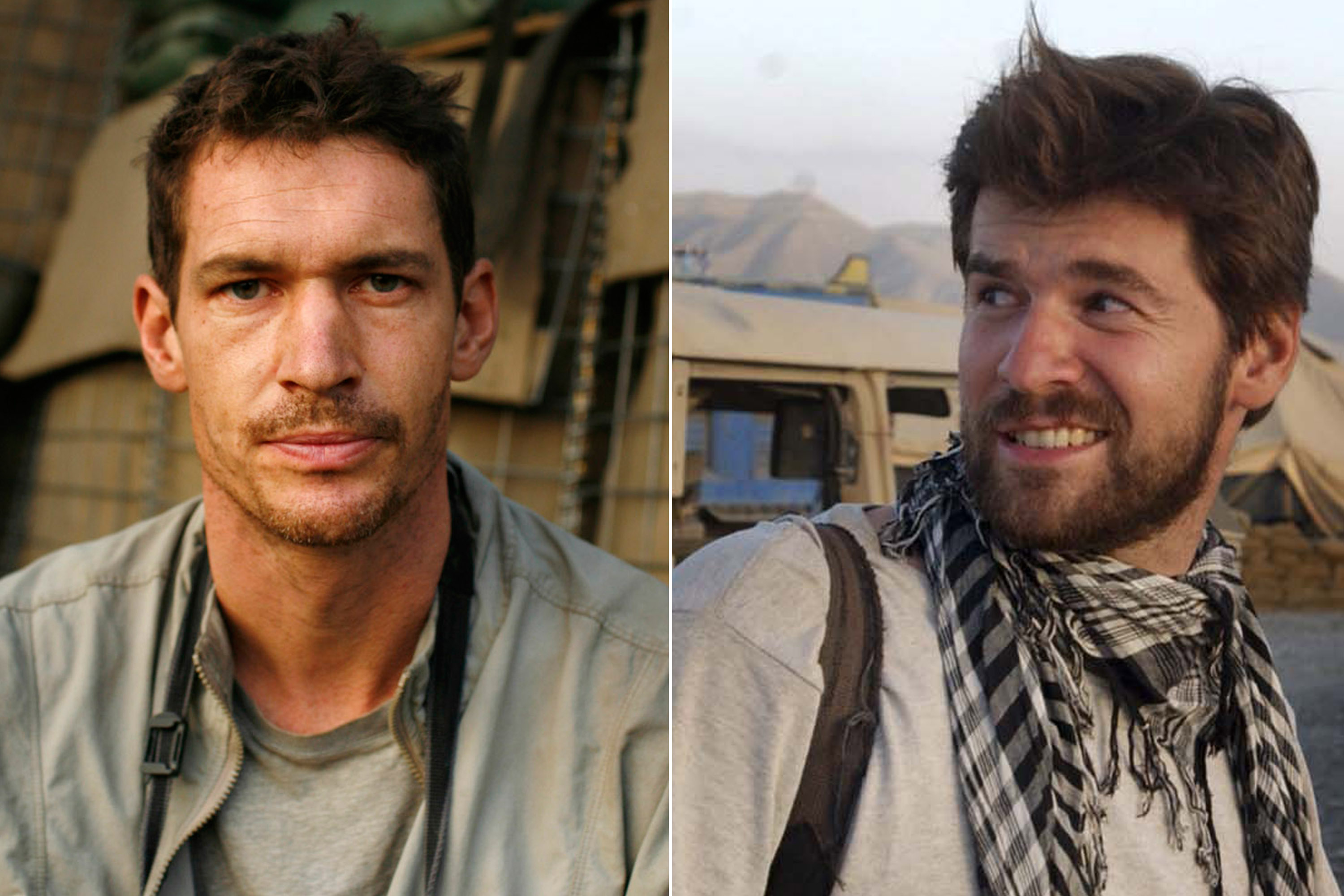 Tim Hetherington (L) and Chris Hondros (R)