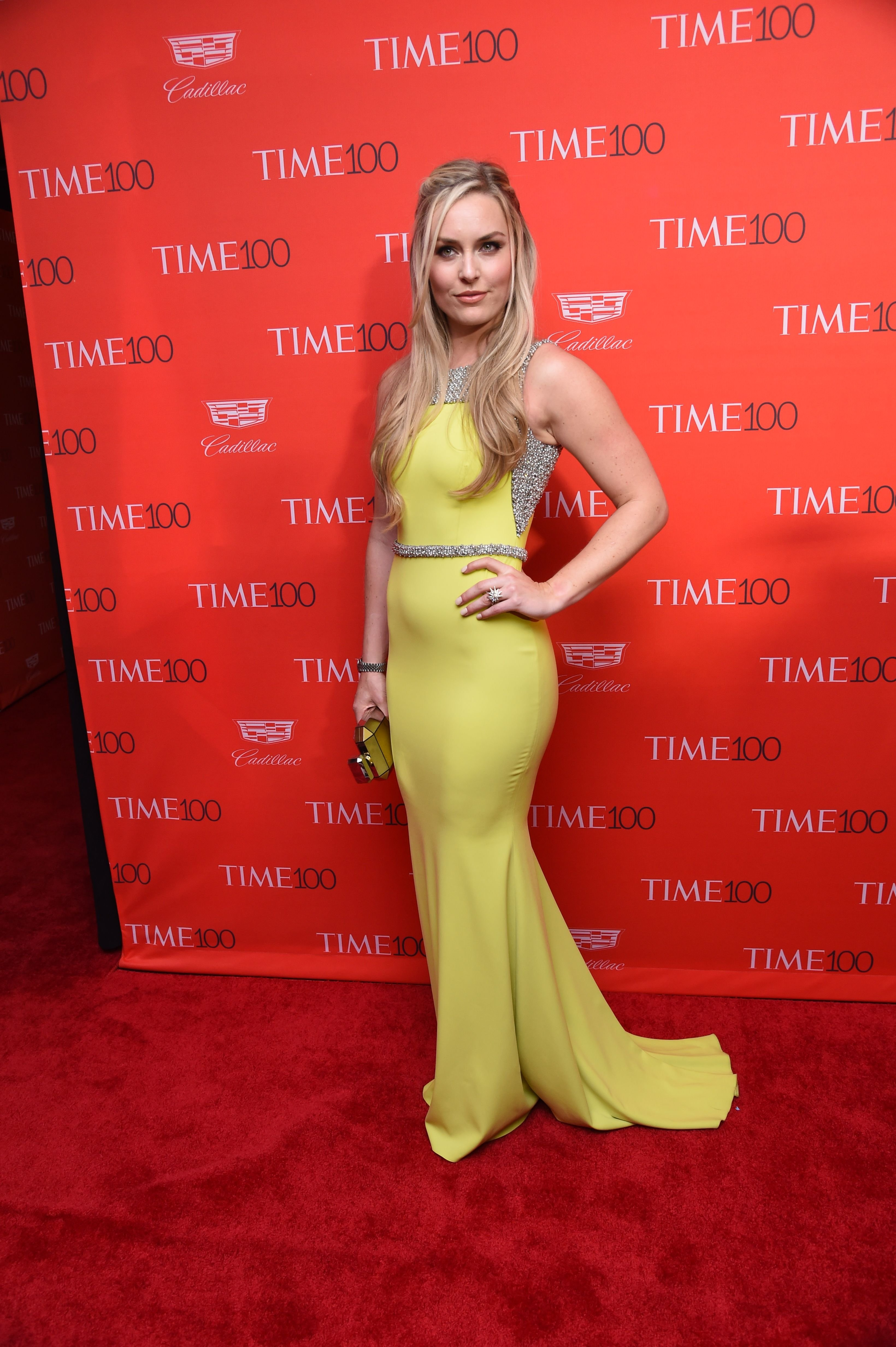 Lindsey Vonn at the                     TIME 100 Gala in New York on April 26, 2016.