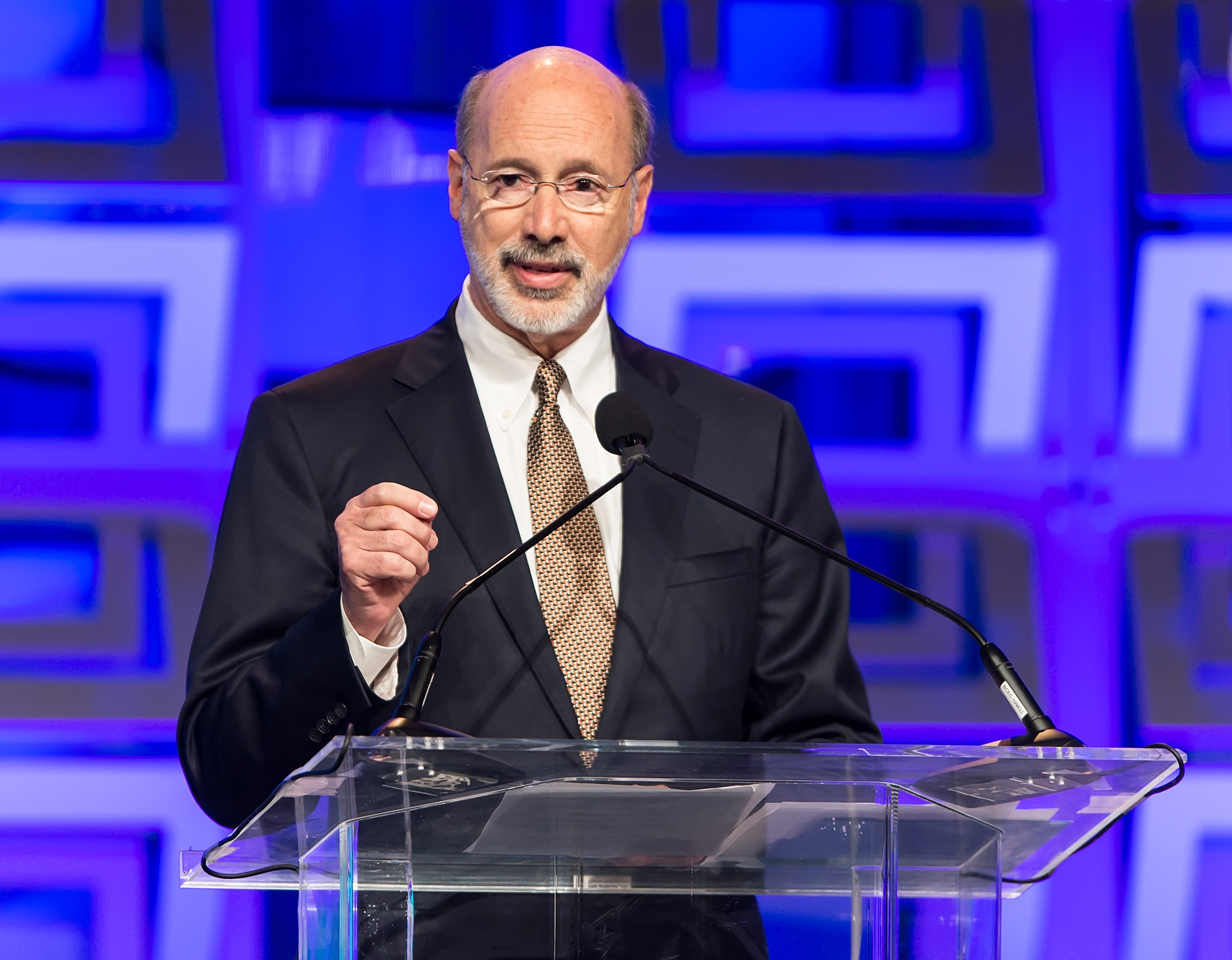 Governor of Pennsylvania Tom Wolf speaks during the Pennsylvania Conference For Women 2015 at on Nov.19, 2015.