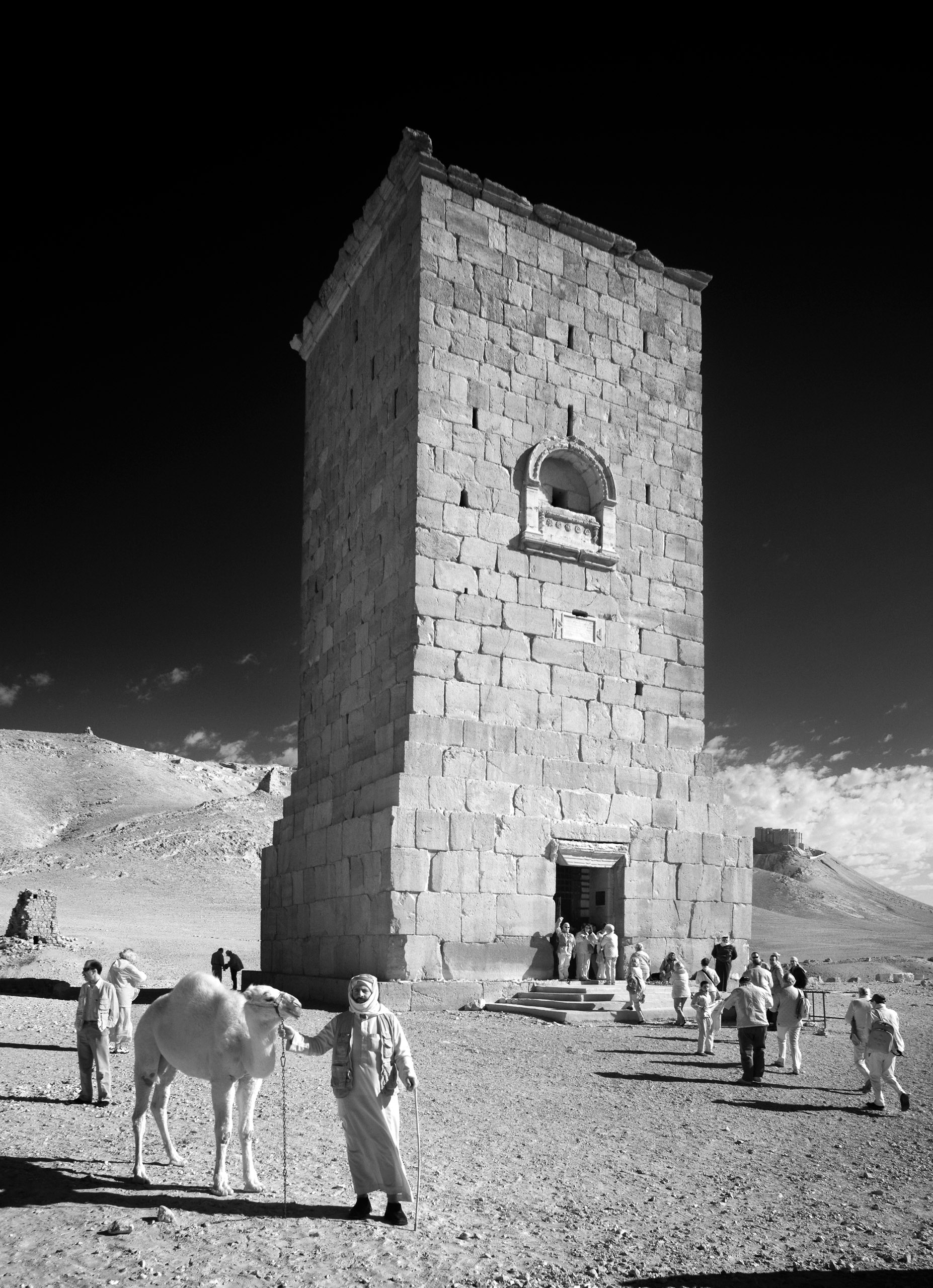 One of the Towers of Yemliko in the                                Valley of the Tombs.