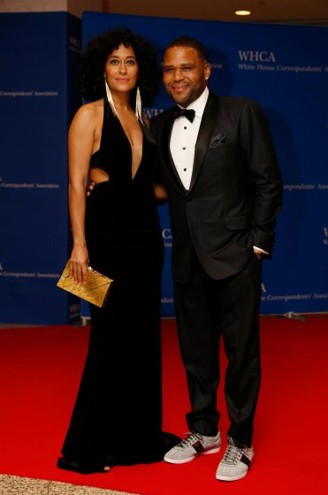 Actors Tracee Ellis Ross, left, and Anthony Anderson White House Correspondents Association Dinner in Washington