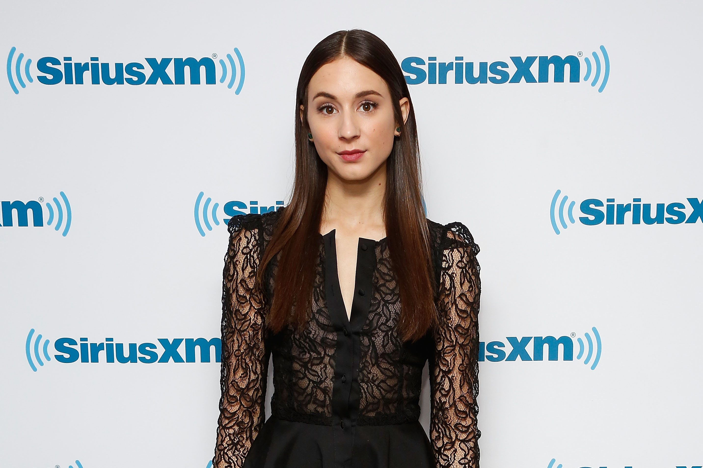 Actress Troian Bellisario visits the SiriusXM Studios on January 11, 2016 in New York City.