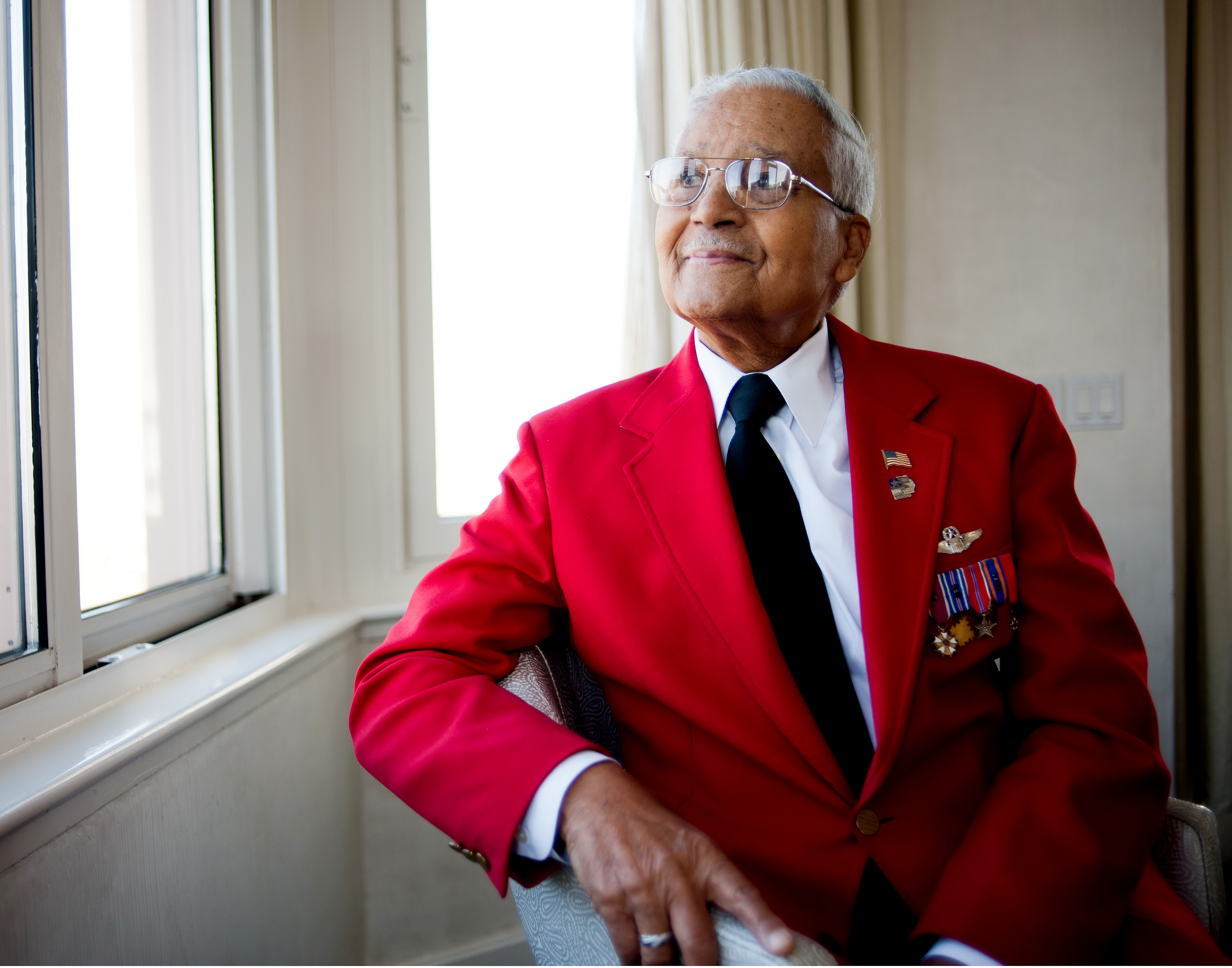 Tuskegee Airman retired Col. Charles McGee