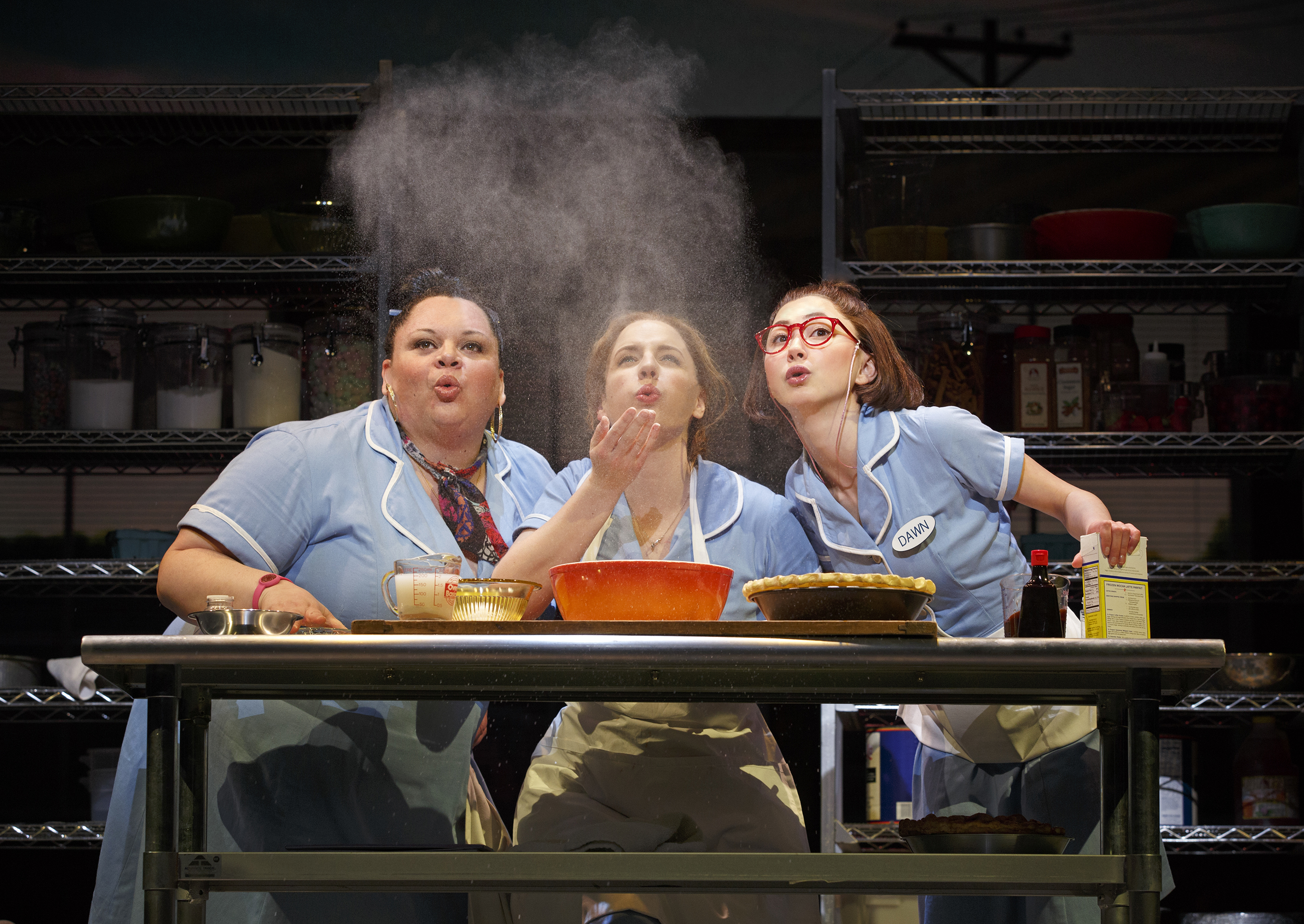 Keala Settle, Jessie Mueller, Kimiko Glenn in Broadway's WAITRESS