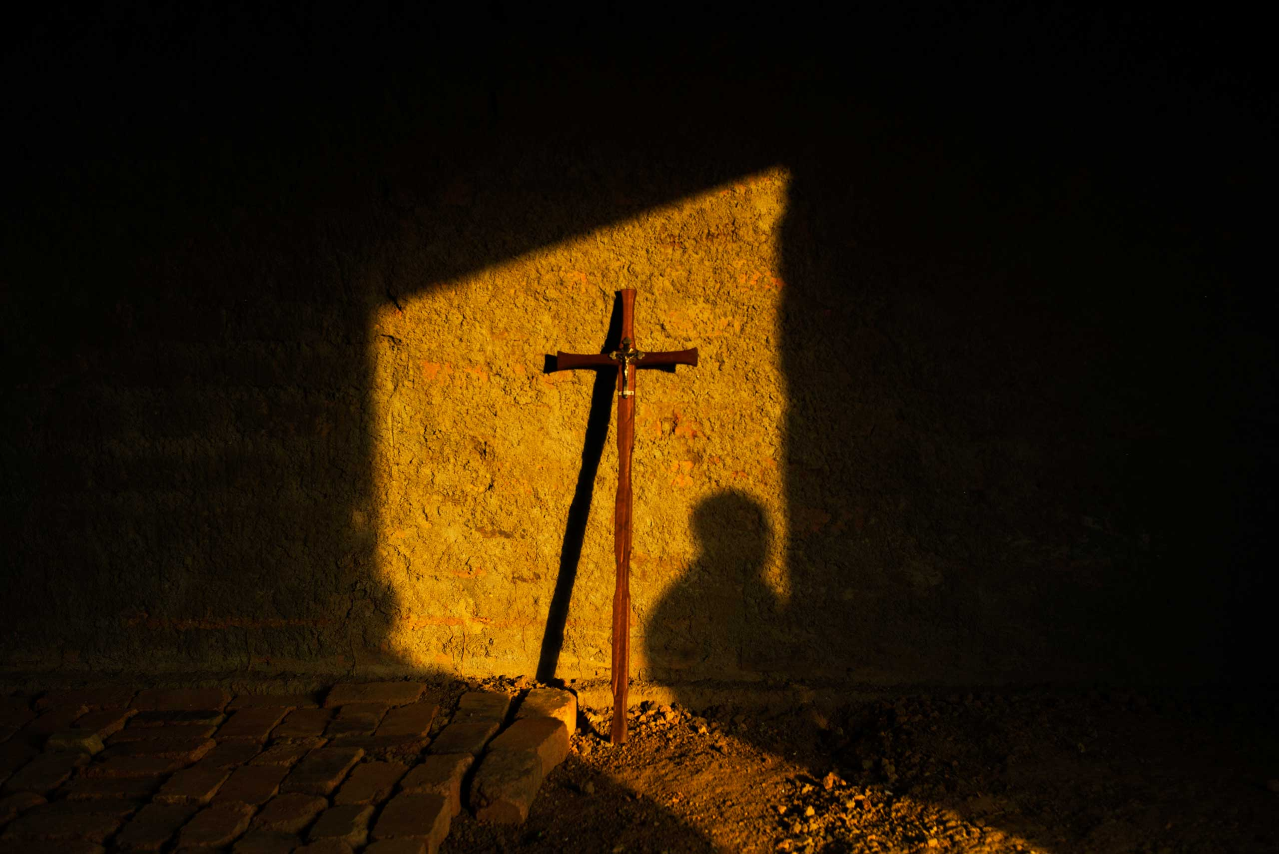 A church in Danga, Central African Republic, minutes before a Sunday mass.