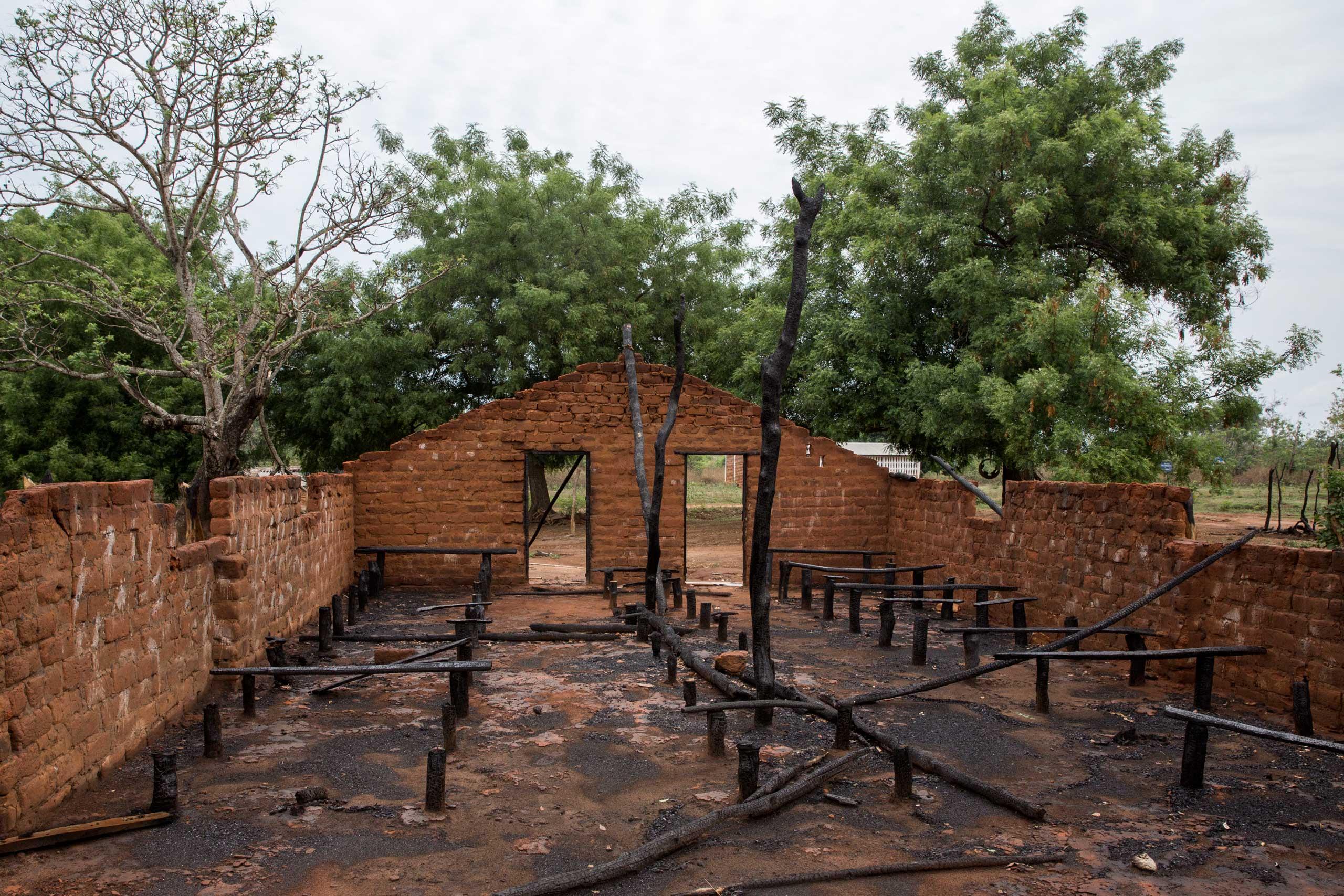 The Catholic church of Galabourouma was burnt on Nov. 30, 2015.