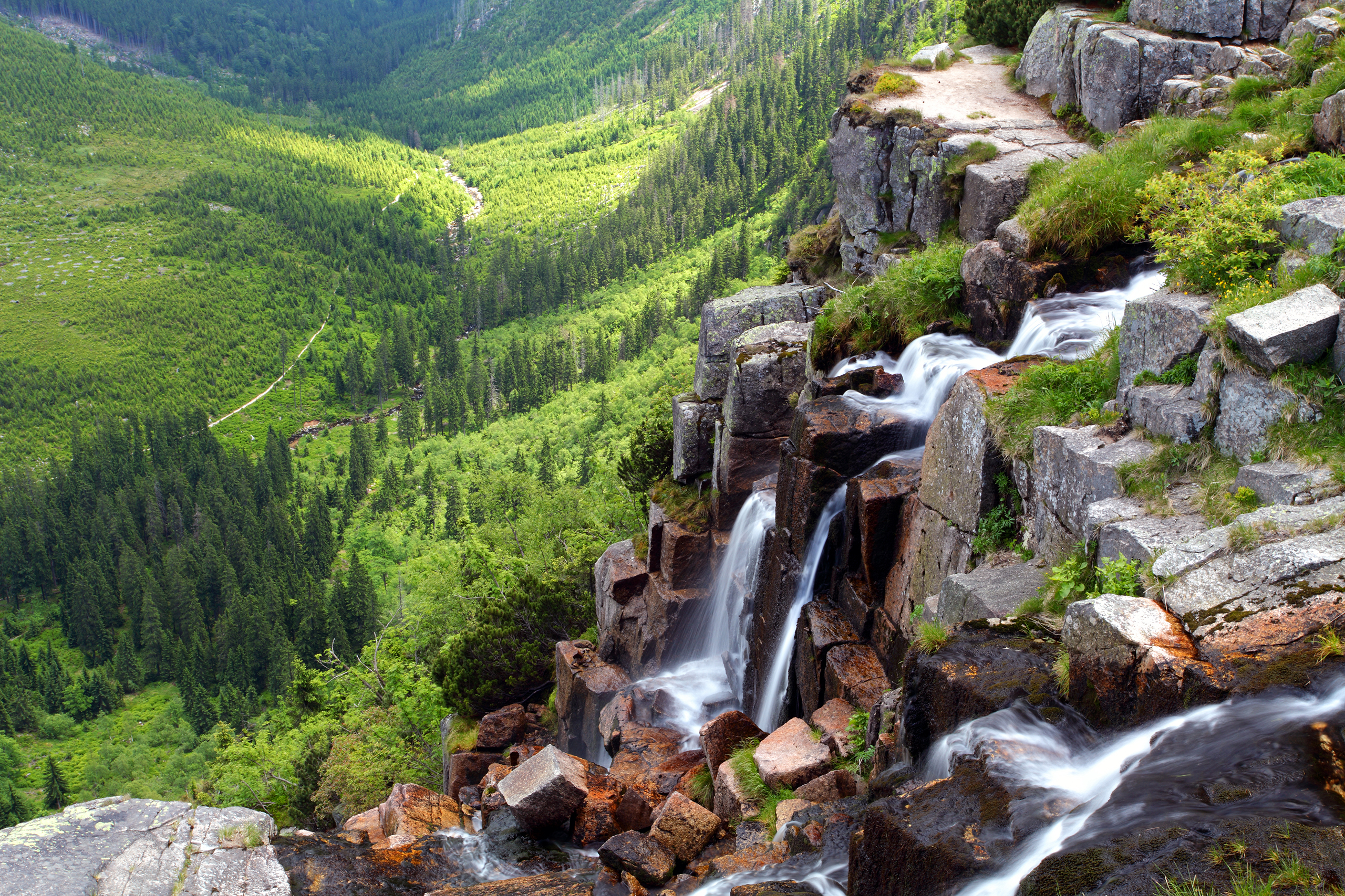 Krkonoše National Park, Czech Republic. This park covers 164 square miles of mountains between the Czech Republic and Poland. It contains the highest mountains north of the Alps in Europe.