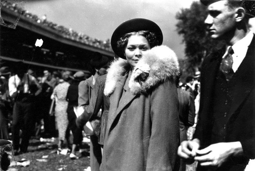 Ms. Doris Murphy attending the Kentucky Derby, Louisville, Kentucky, 1938.