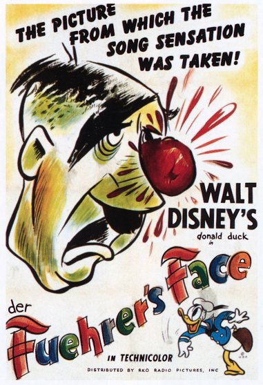 """DER FUEHRER'S FACE,"" Hitler, Donald Duck, Walt Disney's Oscar-winning short subject, 1943."