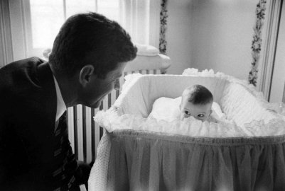 John F. Kennedy and His Daughter Caroline, 1958.