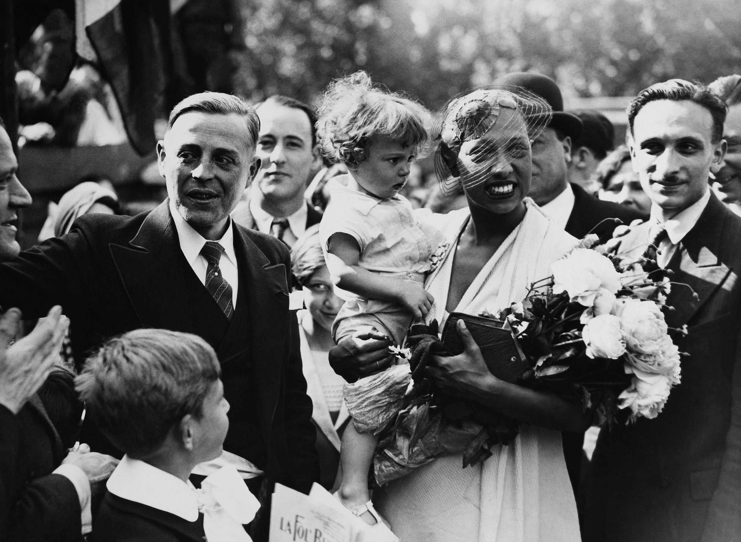 Josephine Baker during the ceremony of the Free Commune Of La Folle Butte, 1933.