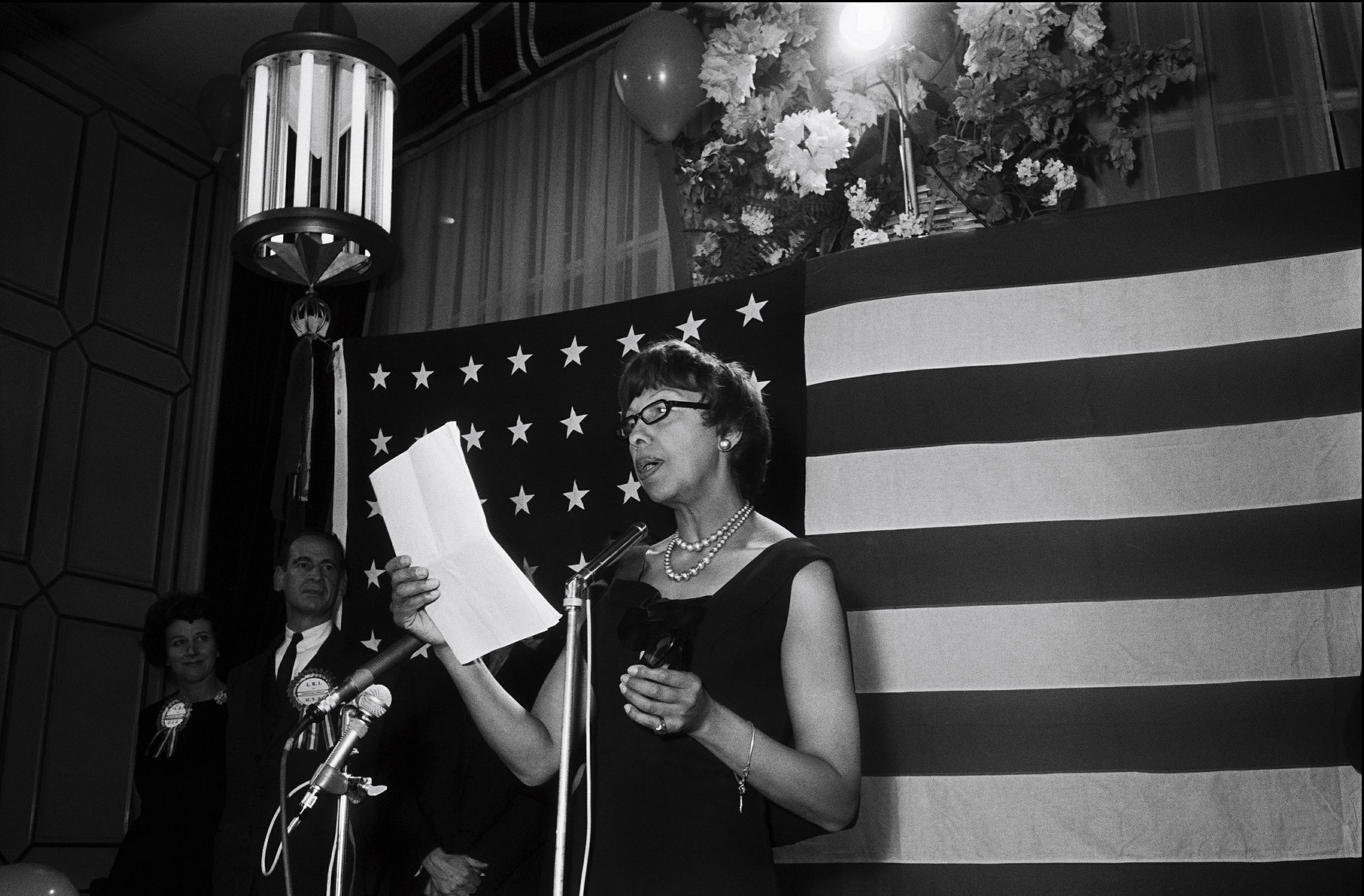 Josephine Baker supports Johnson in U.S. elections in United States in October 1964.