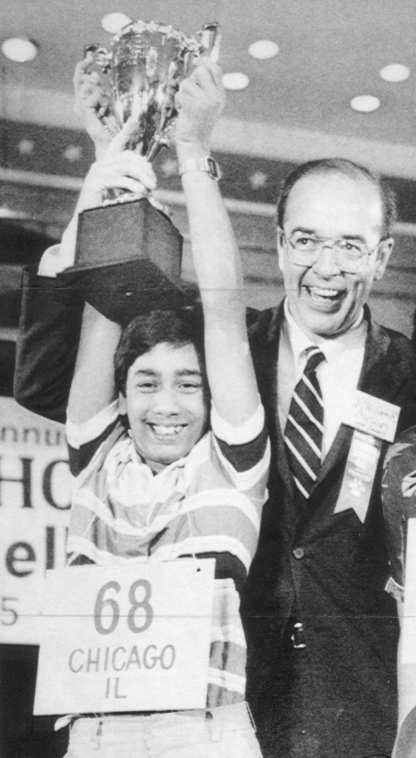 1985 Scripps National Spelling Bee champion Balu Natarajan.