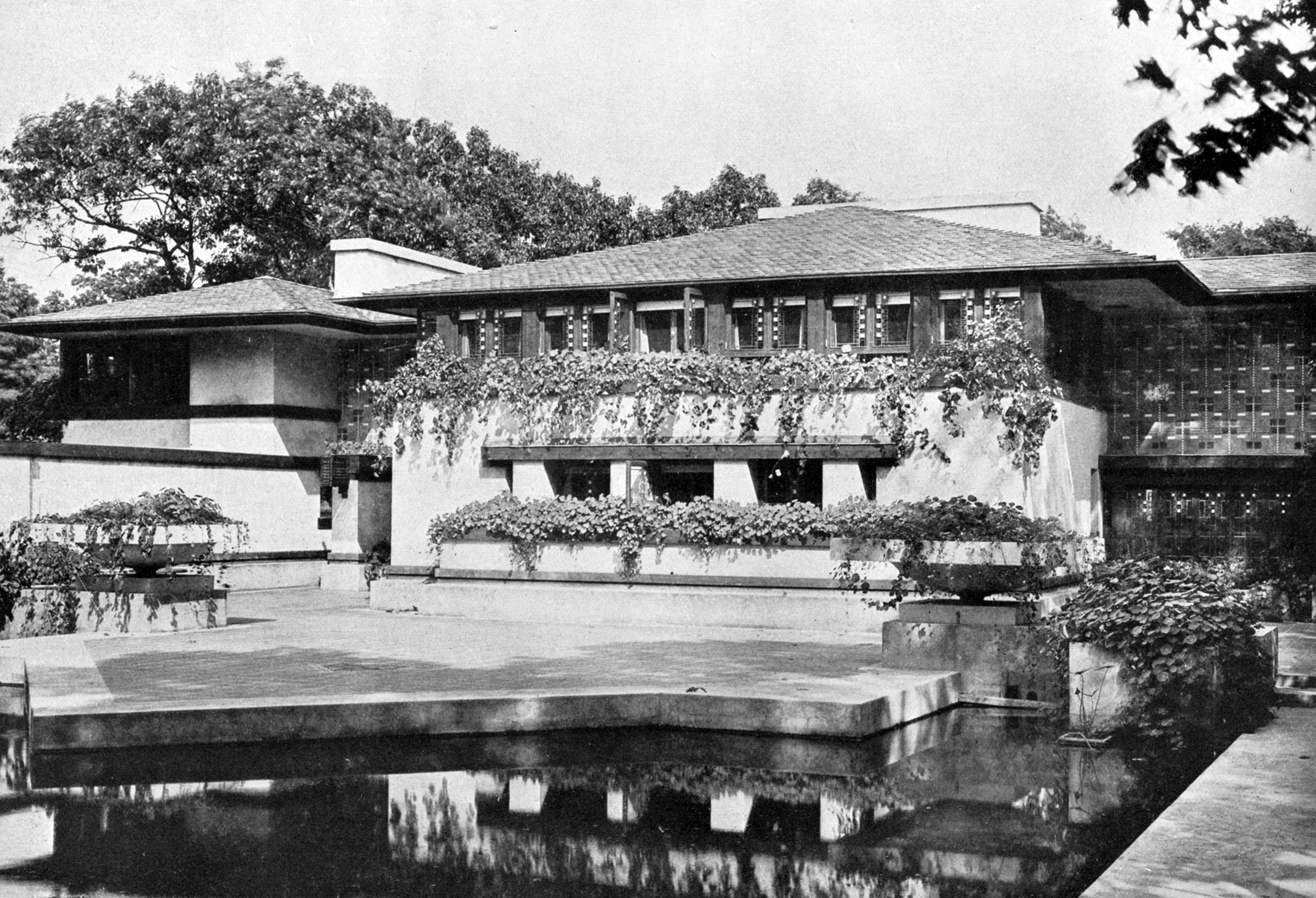 Frank Lloyd Wright's Avery Coonley house, Riverside, Ill. Built circa 1908.
