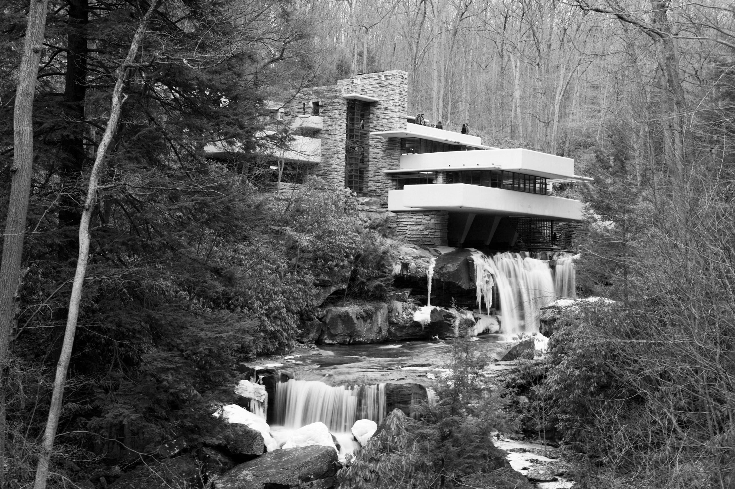 Frank Lloyd Wright's Falling Water house in Mill Run, Penn. Built circa 1936-1939.